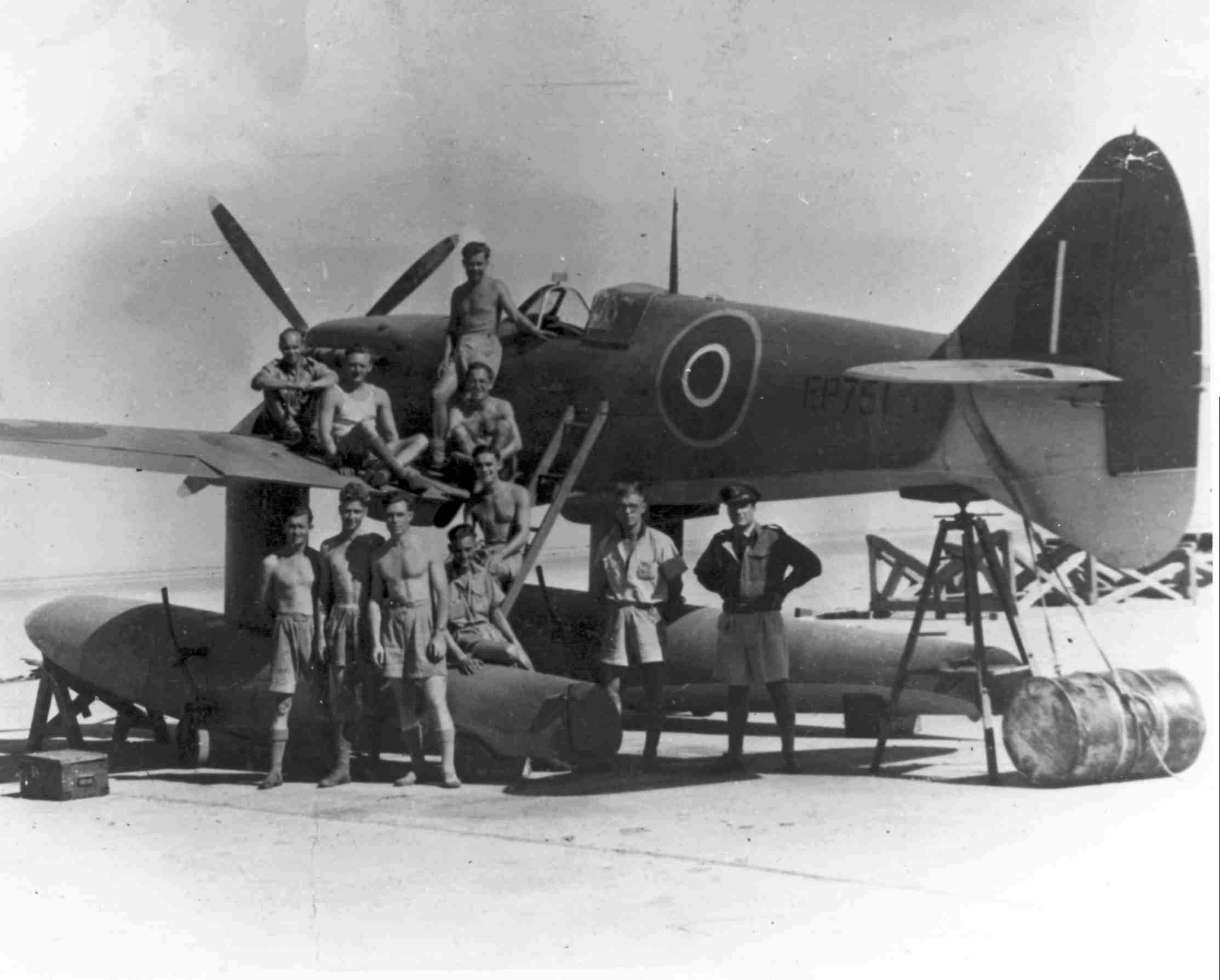 Spitfire MkVc RAF EP751 float plane in Alexandria North Africa Sep 1942 01