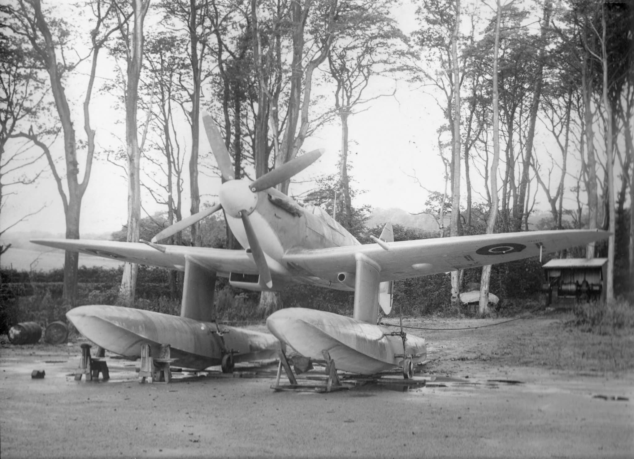 Spitfire MkVc RAF EP751 float plane in Scotland 1942 03