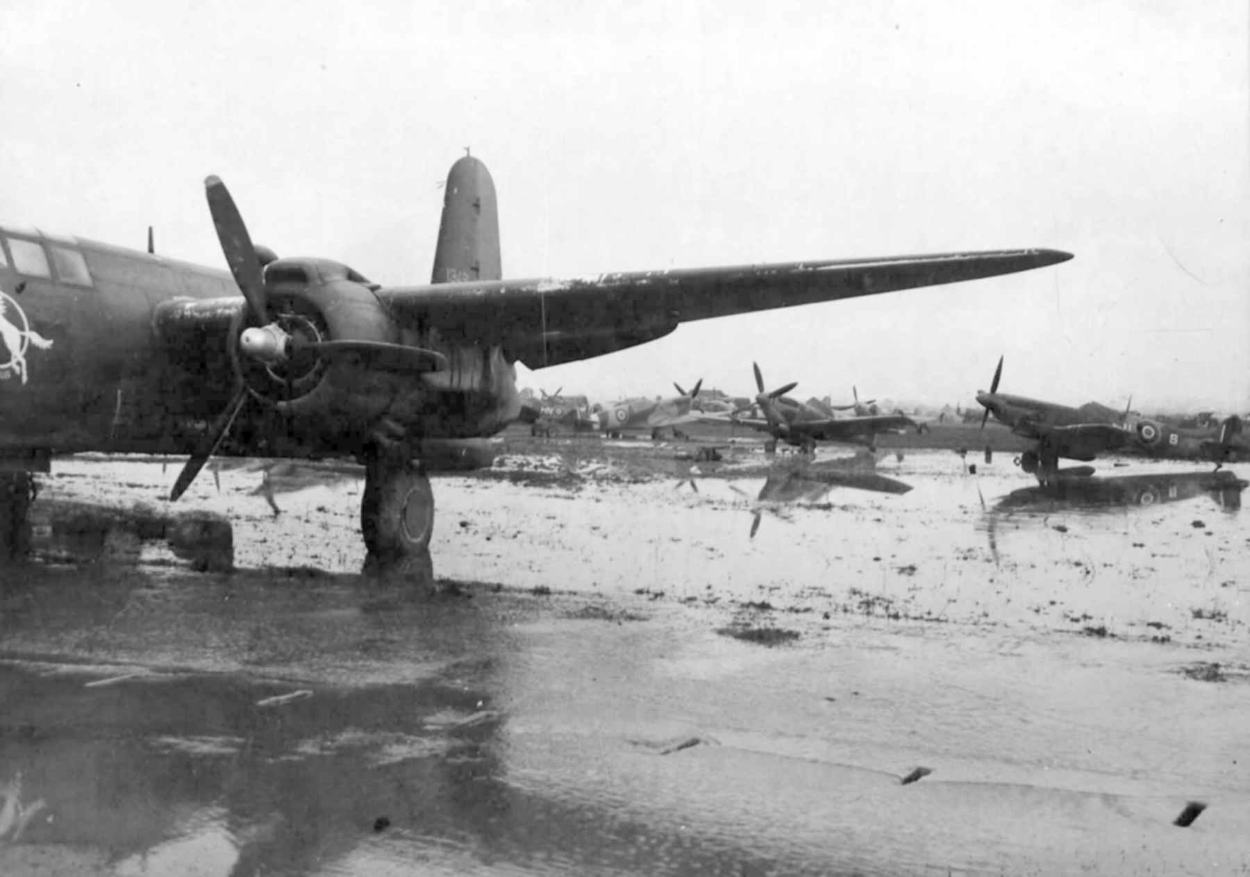 Spitfires and USAAF A 20 boston in Italy 1945 web 01