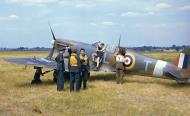 Asisbiz Great colour photos showing Spitfires being rearmed England 01