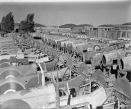 Asisbiz MU Spitfires at RAF 156 Maintenance Unit Blida Algeria 1944 IWM CNA3301