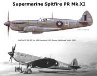 Asisbiz Recon Spitfire PRXI RAF 681Sqn White H PL855 Alipore Northeast India Sep 1944 0A