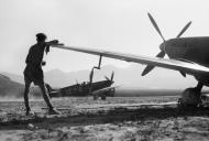 Asisbiz Spitfire MkIX RAF 242Sqn at Calenzana Corsica France 17 Aug 1944 IWM CL880