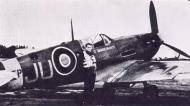 Asisbiz Spitfire MkVb RAF 111Sqn JU Squadron Leader PR Wickham EP166 Bandeirante 01