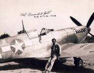 Asisbiz Aircrew USAAF LtCol Frank A Hill CO 31st FG Spitfire IX signed 01