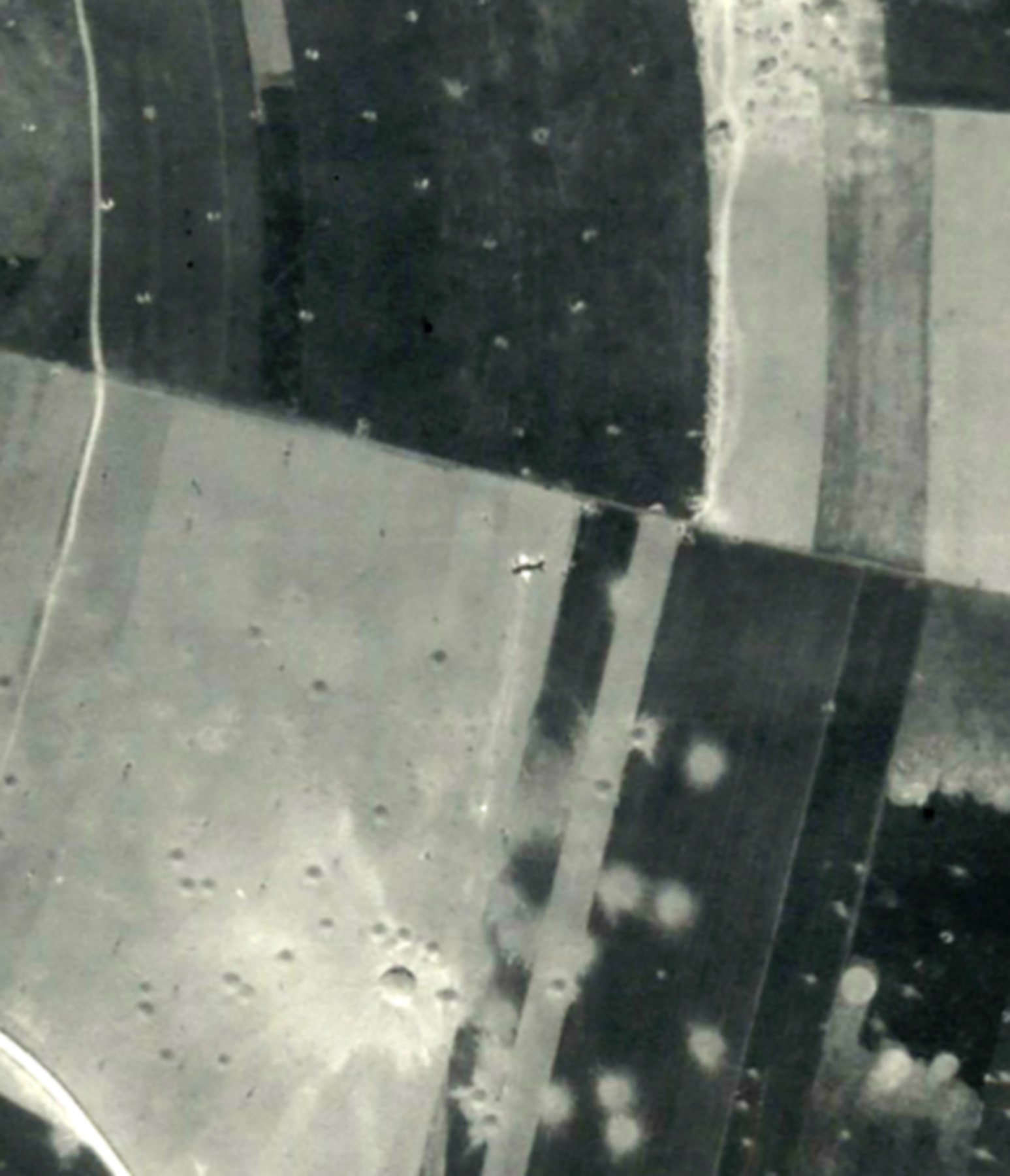 USAAAF 7PG22FS aerial recon photo showng downed aircraft Juno Beach area France June 12 1944 01