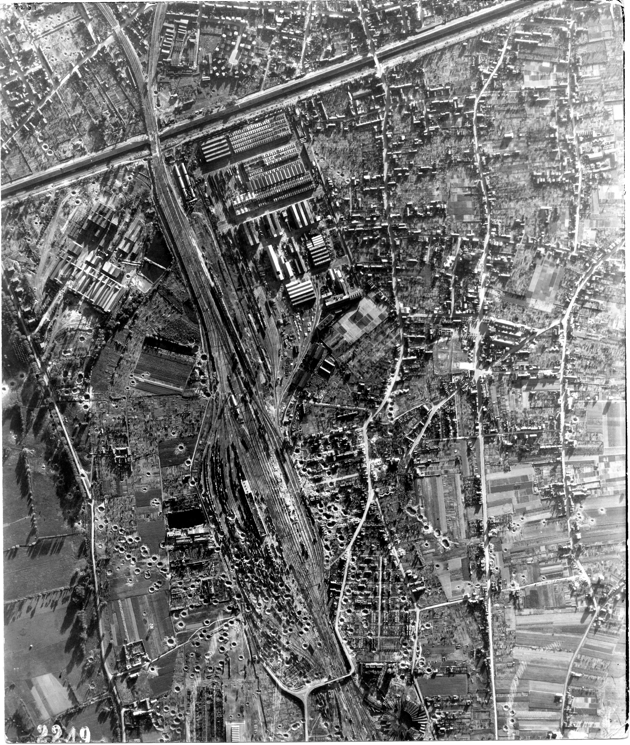 USAAAF 7PG22FS aerial recon photo to Angers France July 24 1944 01