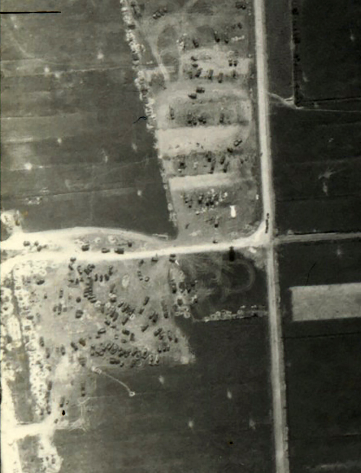 USAAAF 7PG22FS aerial recon photo to Barrage Balloons Juno Beach area France June 12 1944 01