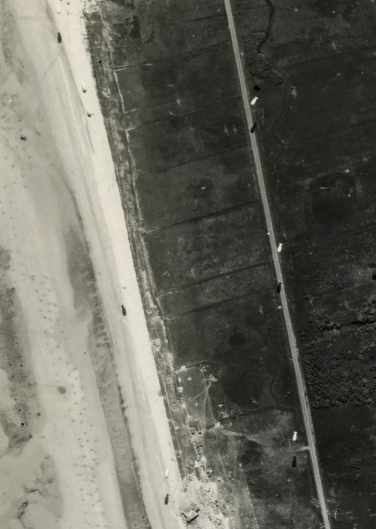 USAAAF 7PG22FS aerial recon photo to Barrage Balloons Juno Beach area France June 12 1944 03