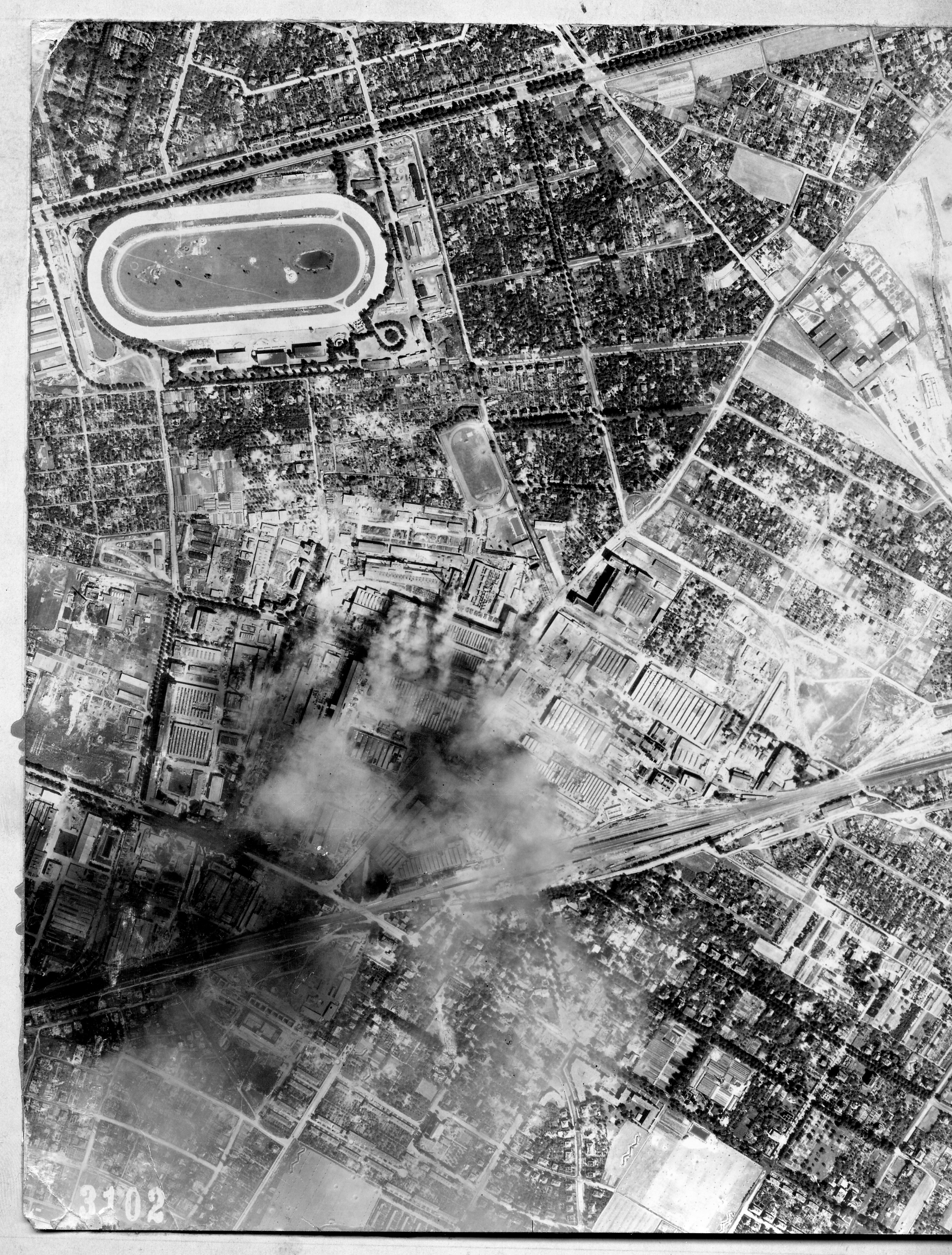 USAAAF 7PG22FS aerial recon photo to Berlin Mariendorf August 6 1944 01