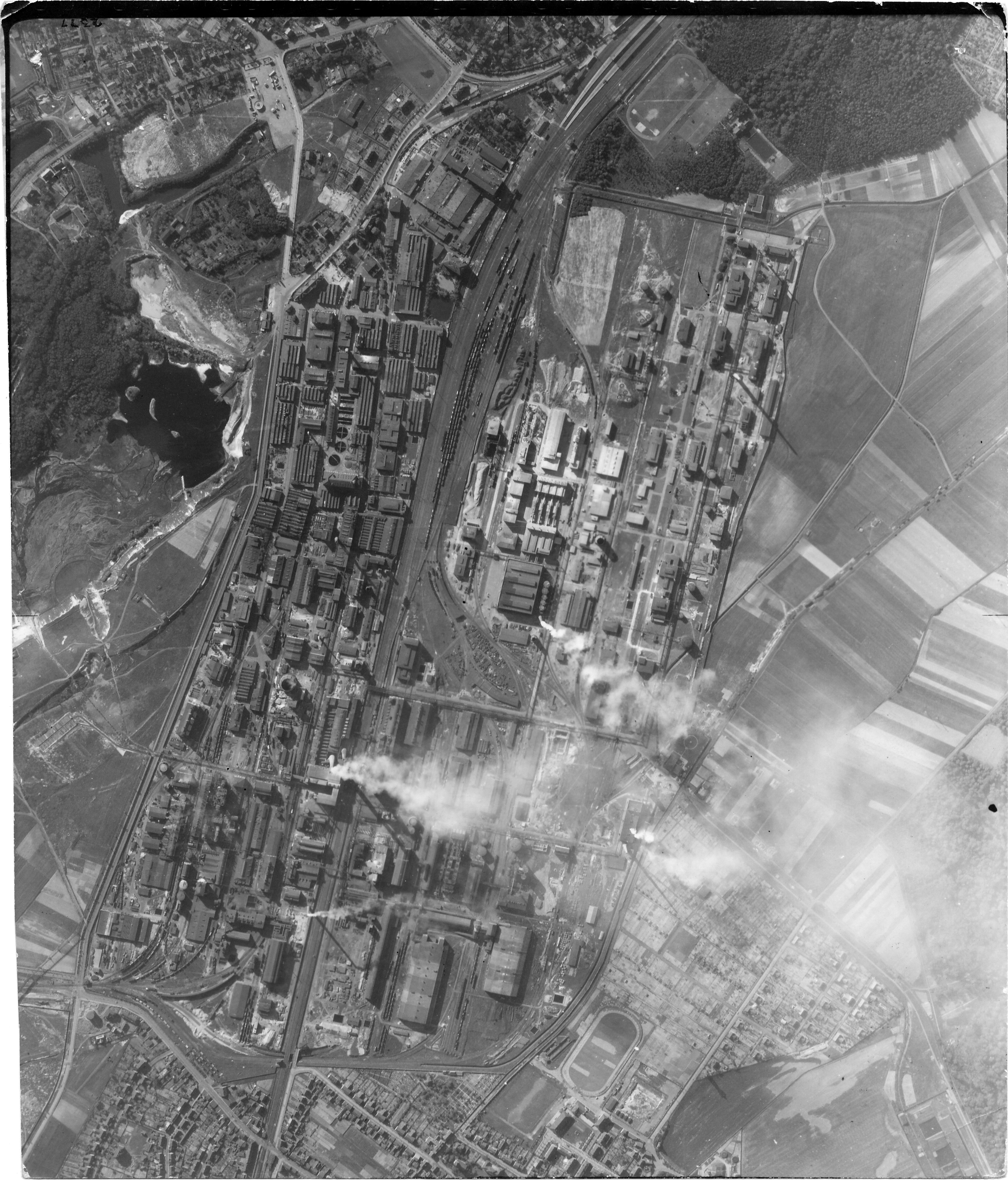 USAAAF 7PG22FS aerial recon photo to Bitterfeld 5 Germany May 30 1944 01