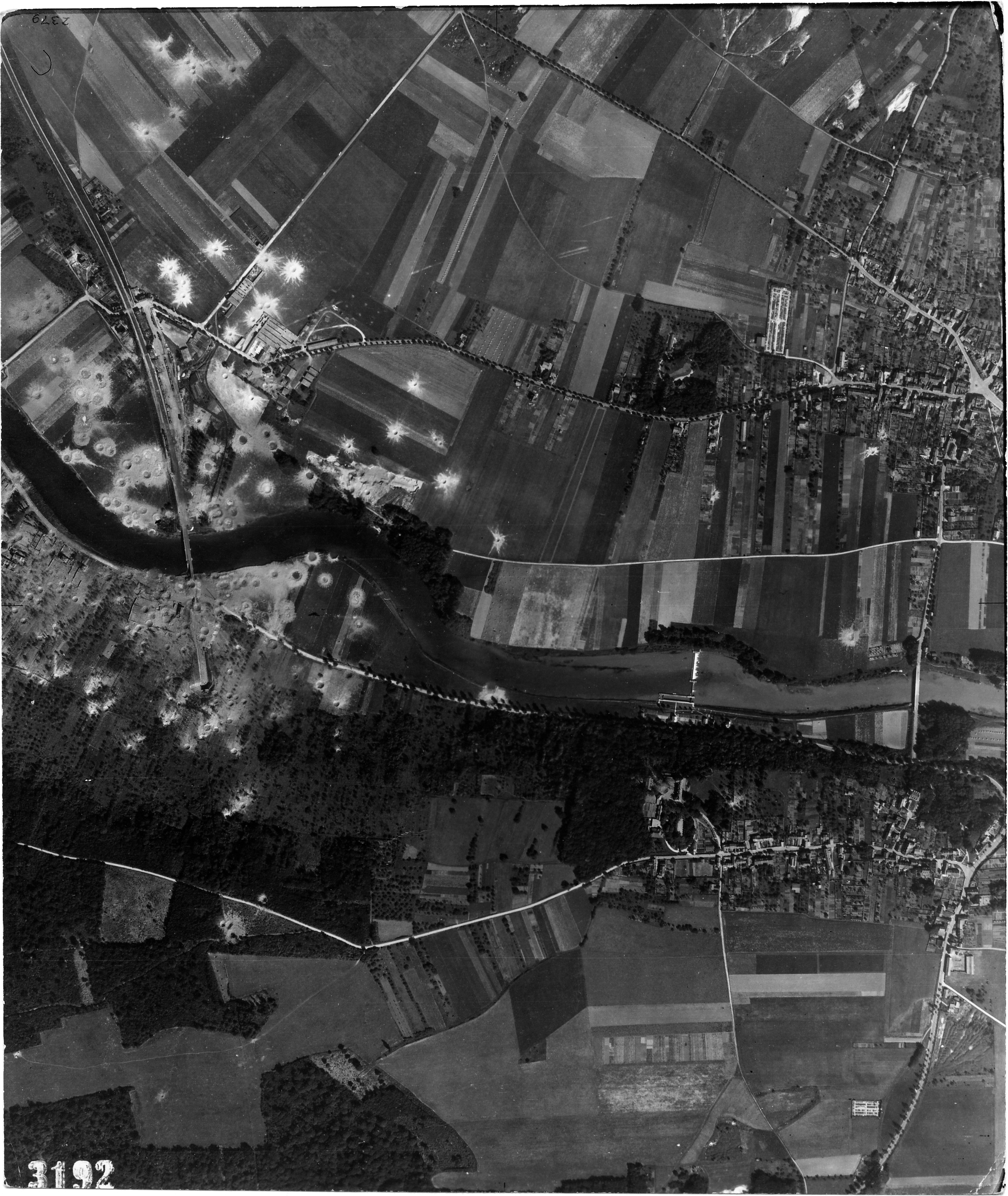 USAAAF 7PG22FS aerial recon photo to Bridges France July 17 1944 01