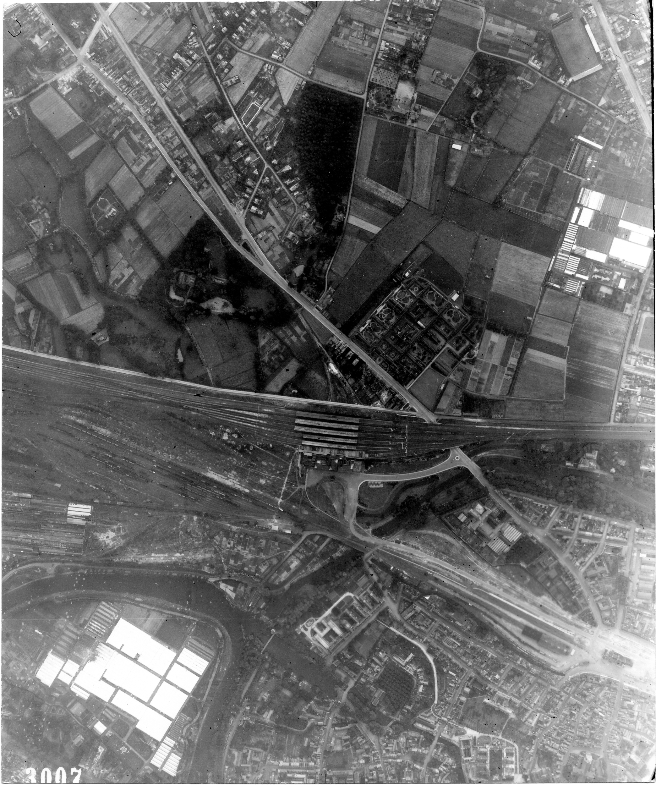 USAAAF 7PG22FS aerial recon photo to Bruges Belgium July 17 1944 01