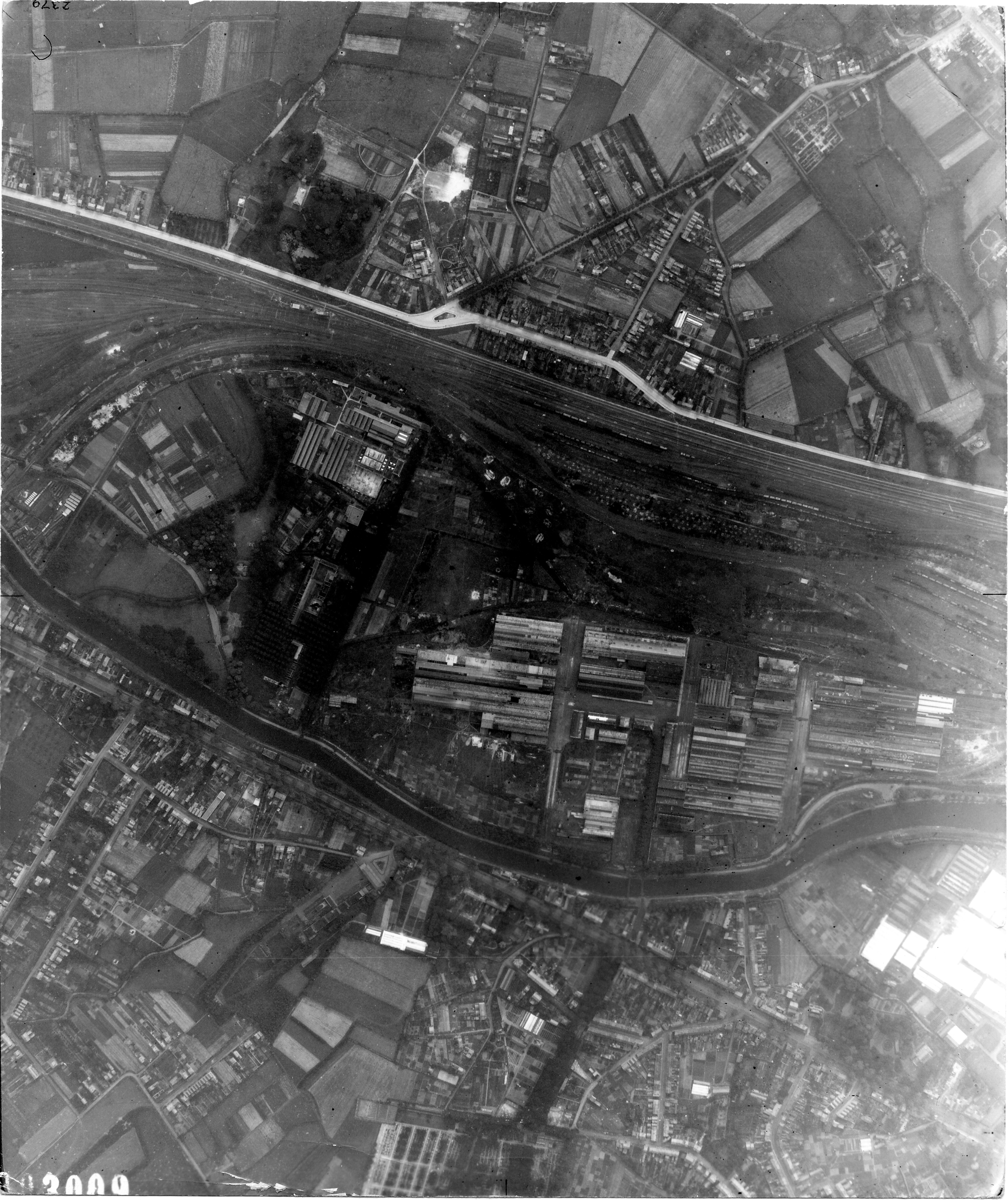 USAAAF 7PG22FS aerial recon photo to Bruges Belgium July 21 1944 01