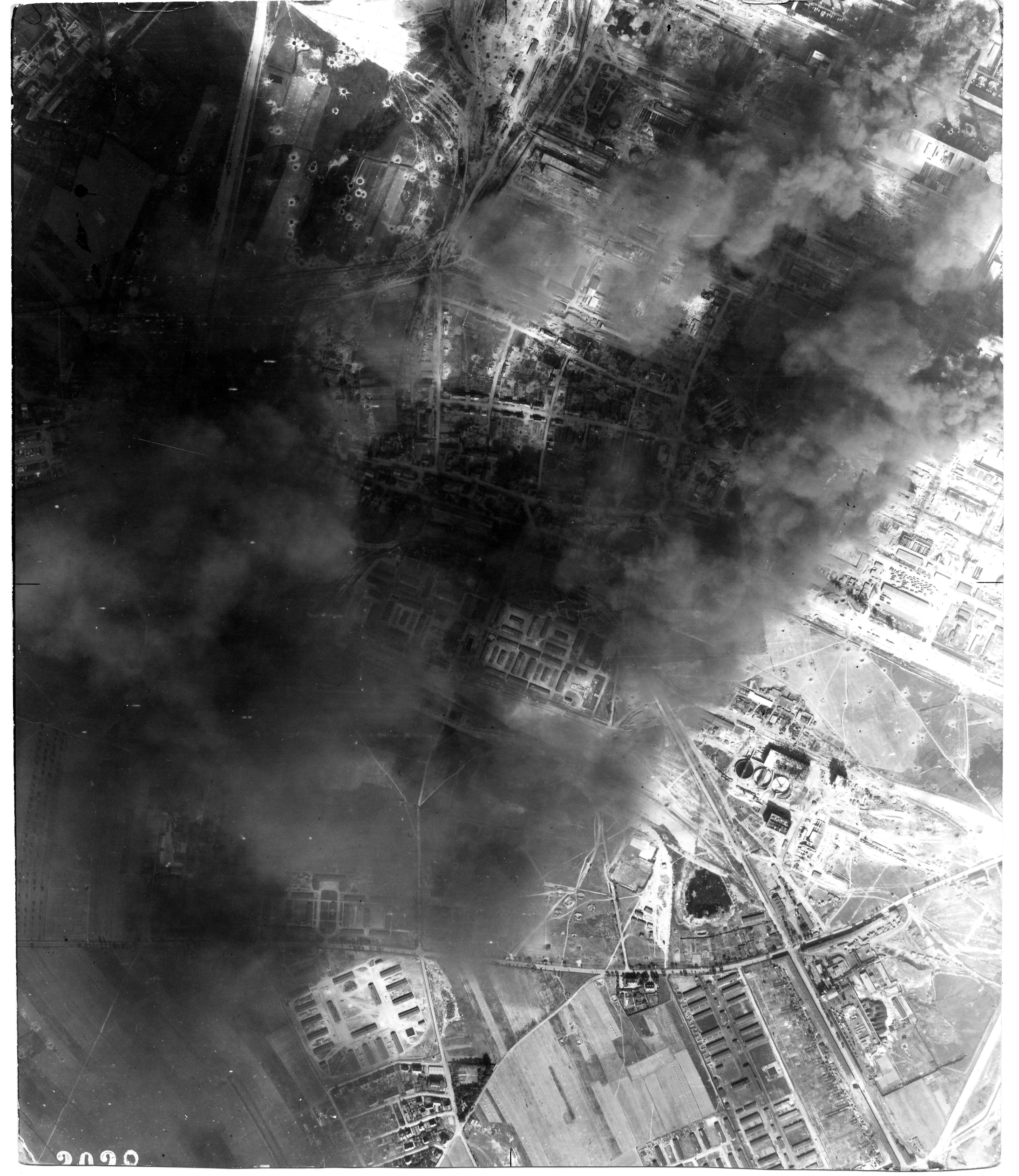 USAAAF 7PG22FS aerial recon photo to Brux Czech Republic August 24 1944 01
