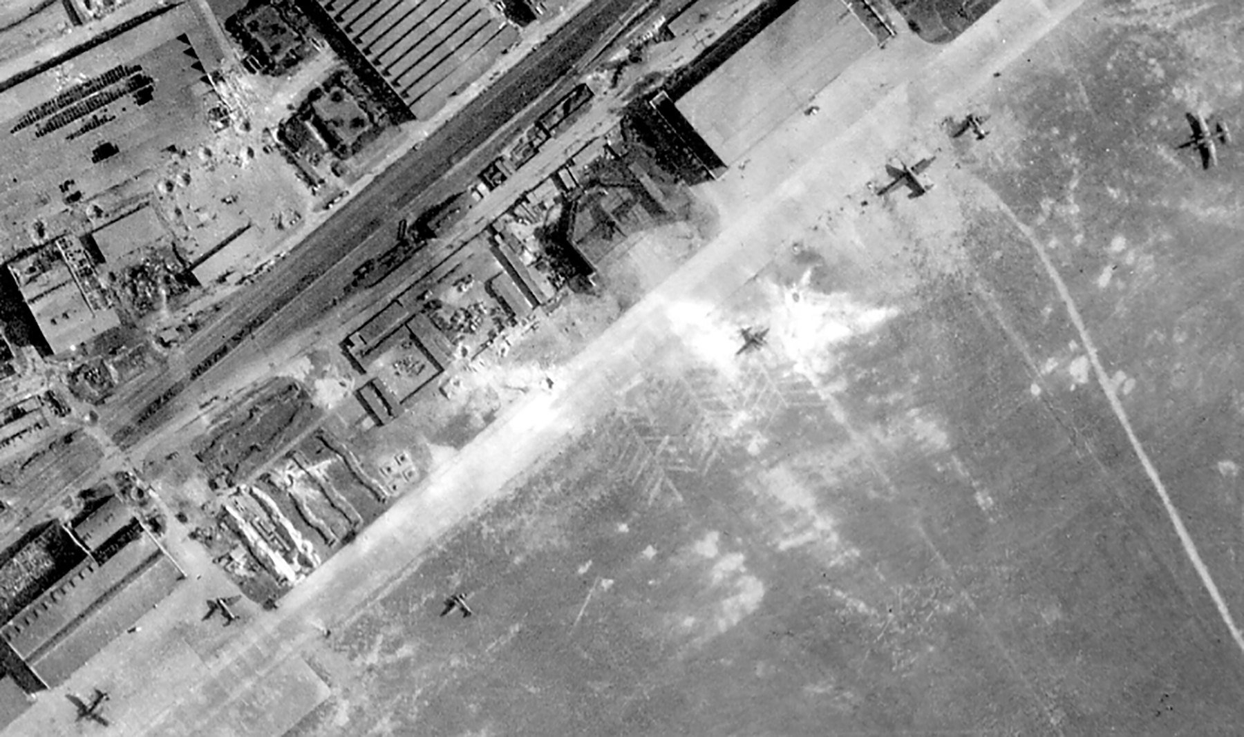 USAAAF 7PG22FS aerial recon photo to Dessau Airfield Germany May 30 1944 02