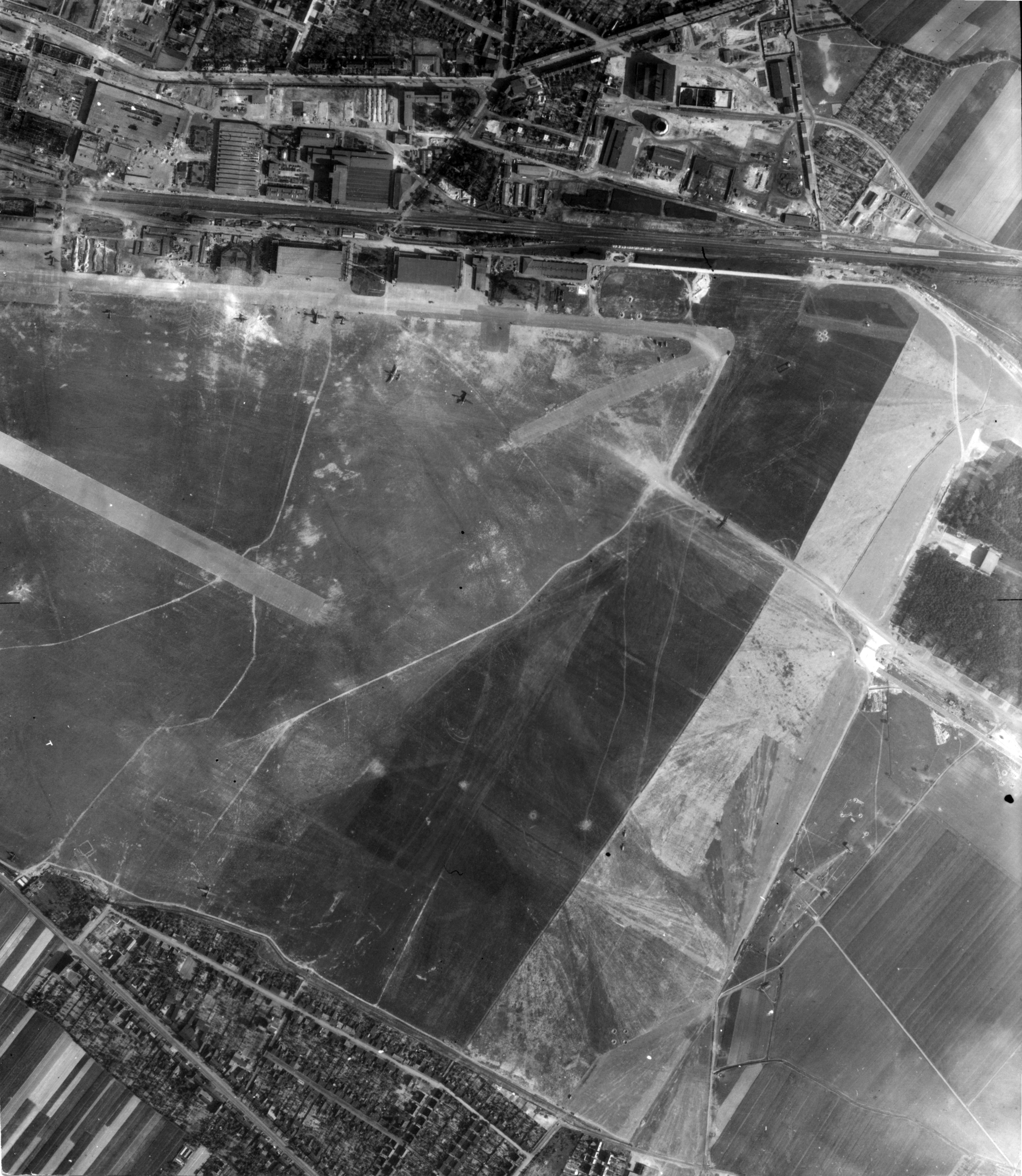 USAAAF 7PG22FS aerial recon photo to Dessau Junkers Factory Airfield May 30 1944 01
