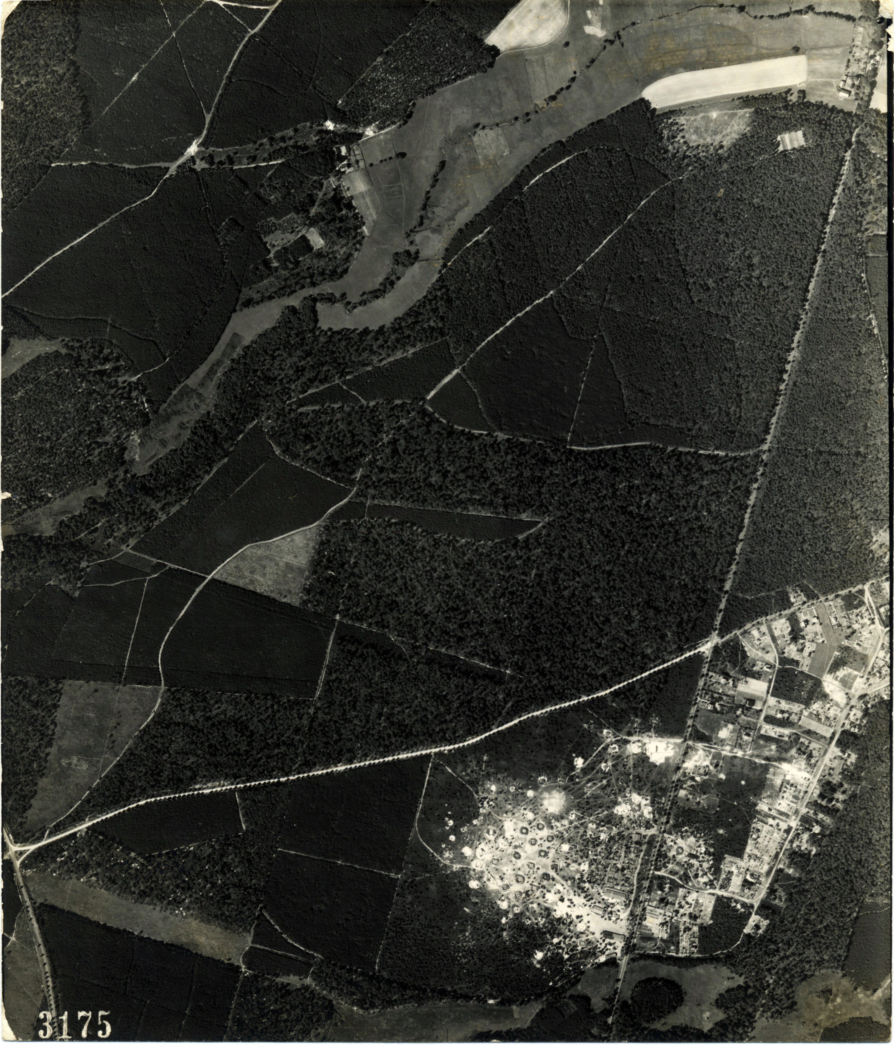 USAAAF 7PG22FS aerial recon photo to Factory Berlin Basdorf August 6 1944 01