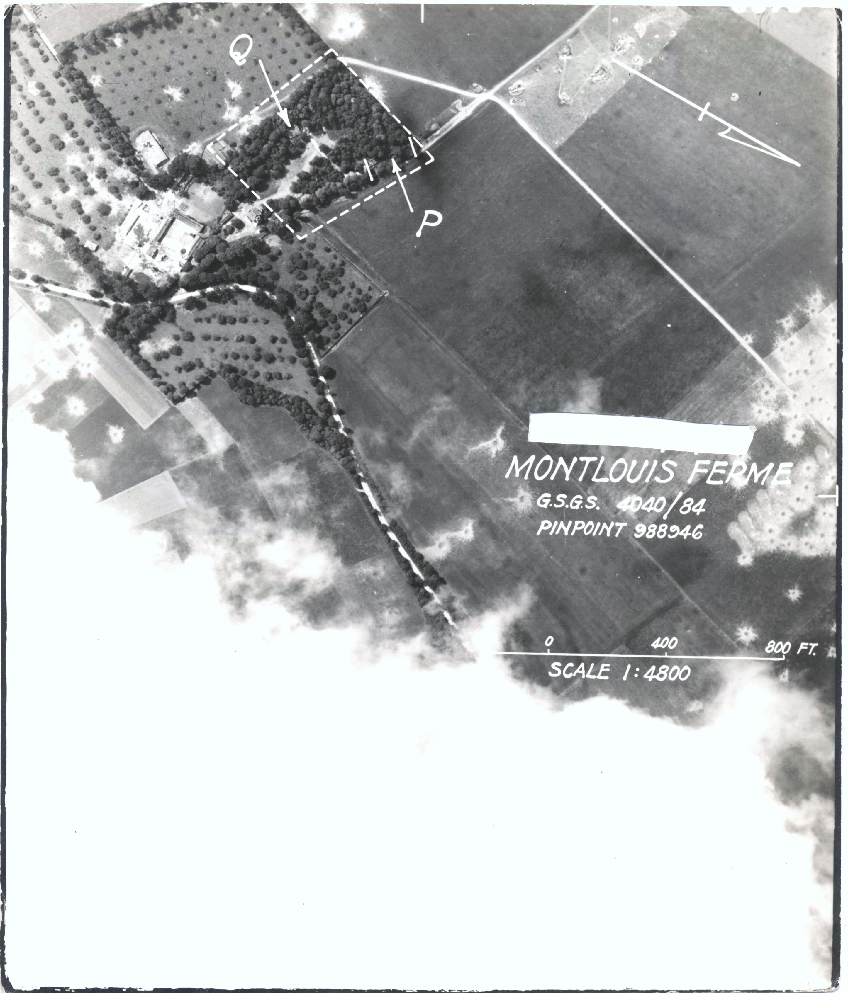 USAAAF 7PG22FS aerial recon photo to Ferme V Weapons Noball France July 4 1944 01