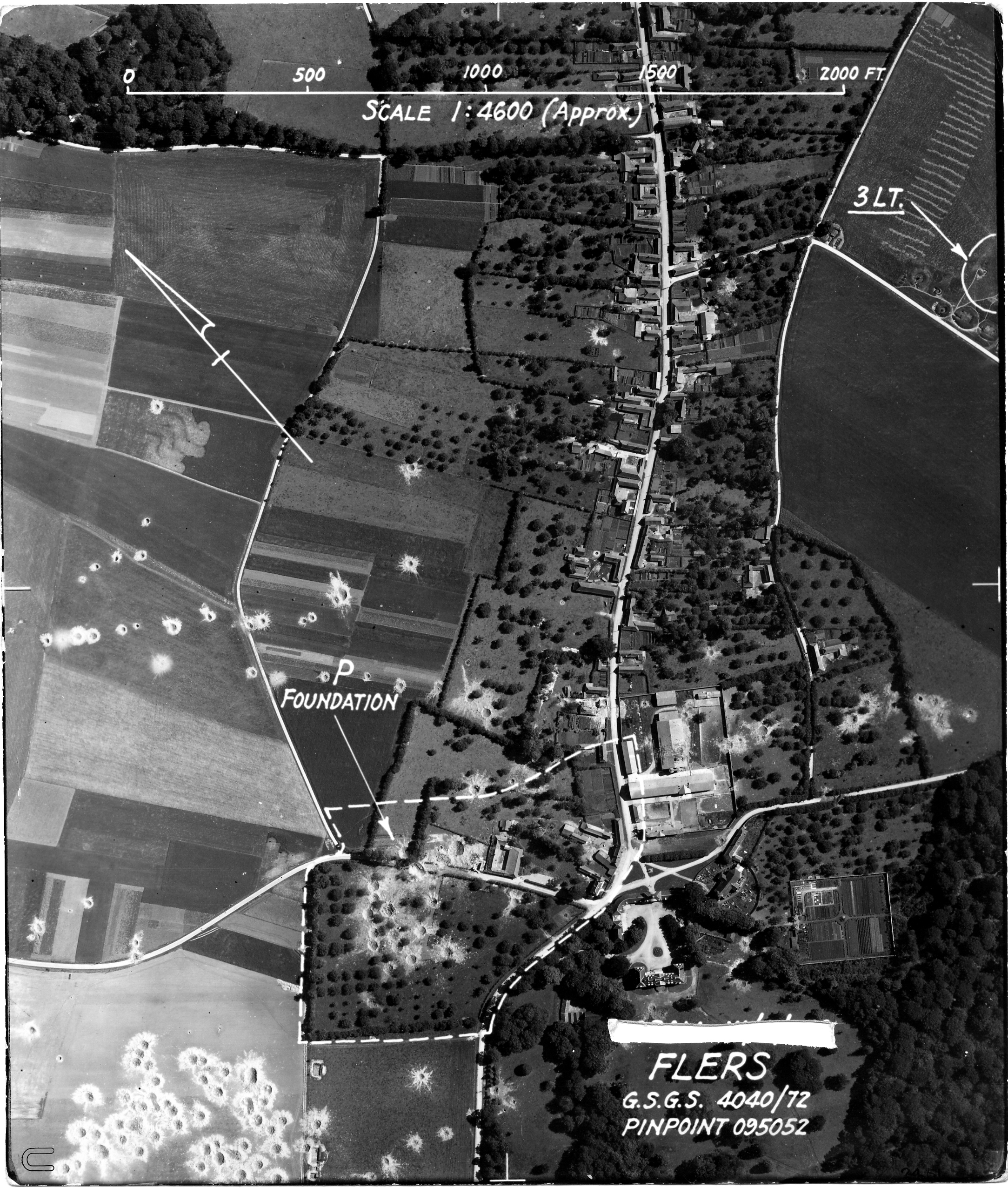 USAAAF 7PG22FS aerial recon photo to Flers V Weapons Noball France Aug 6 1944 01