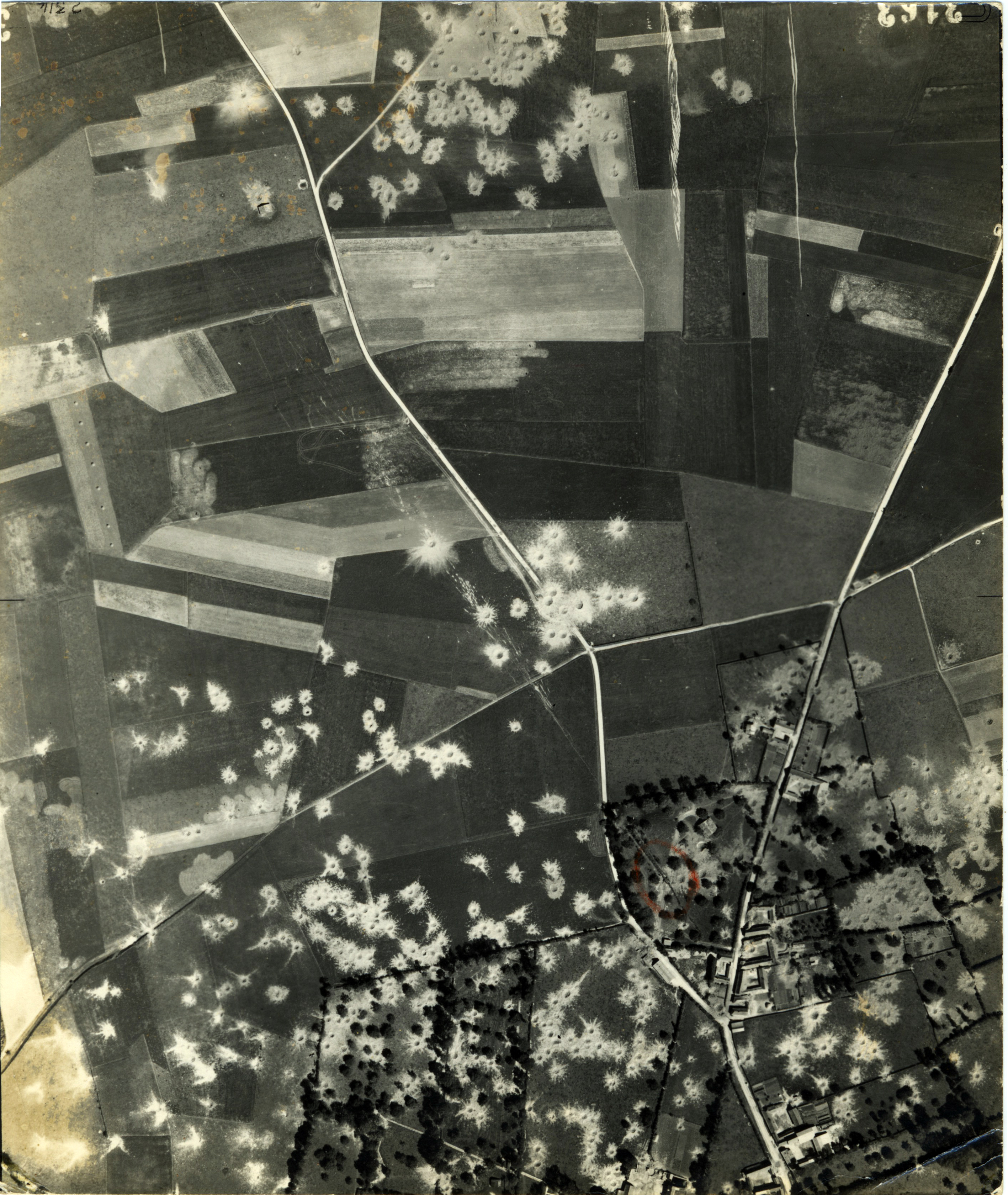 USAAAF 7PG22FS aerial recon photo to Fleury Pas de Calais V Weapons Noball France July 6 1944 01