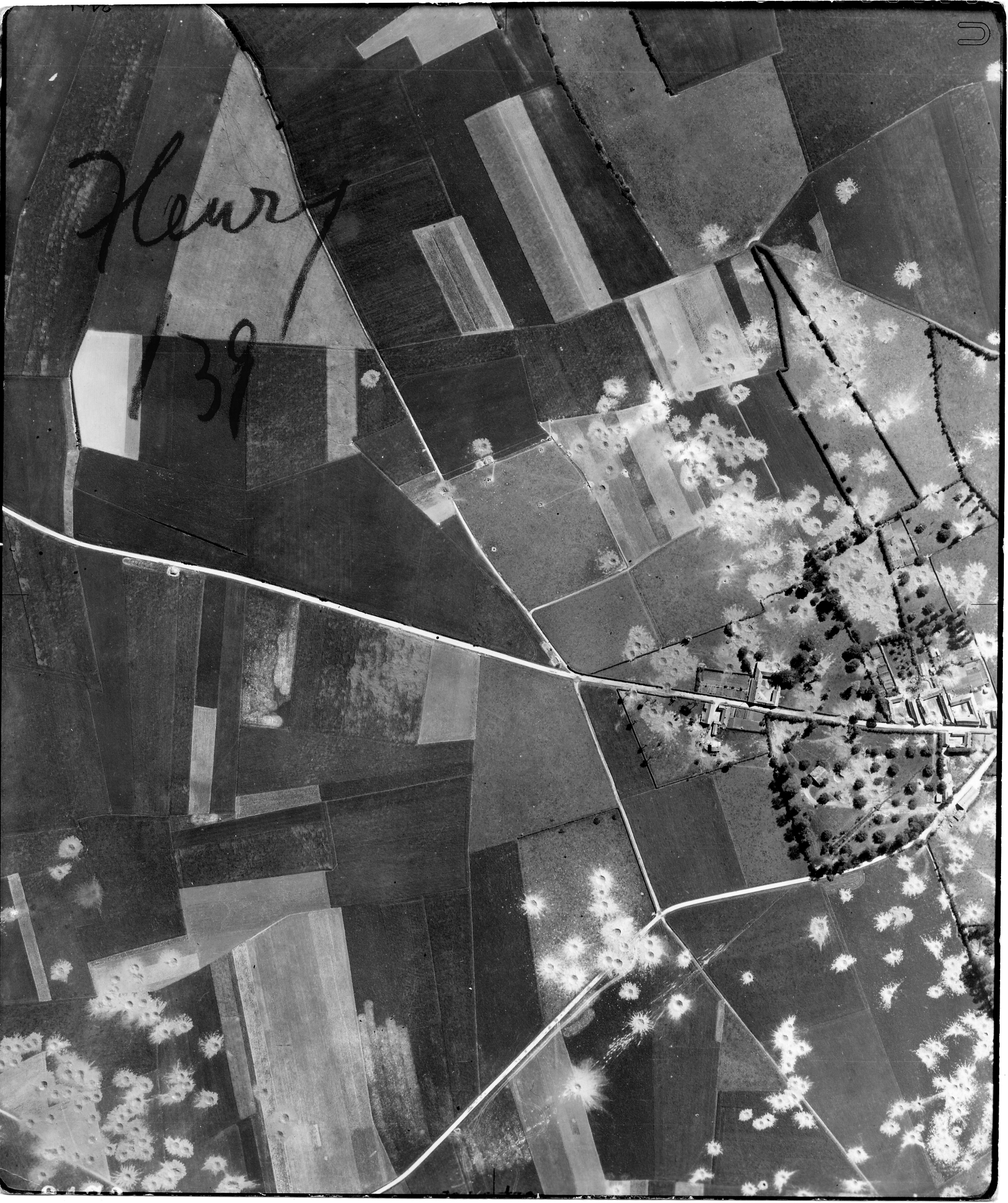 USAAAF 7PG22FS aerial recon photo to Fleury V Weapons Noball France July 6 1944 01