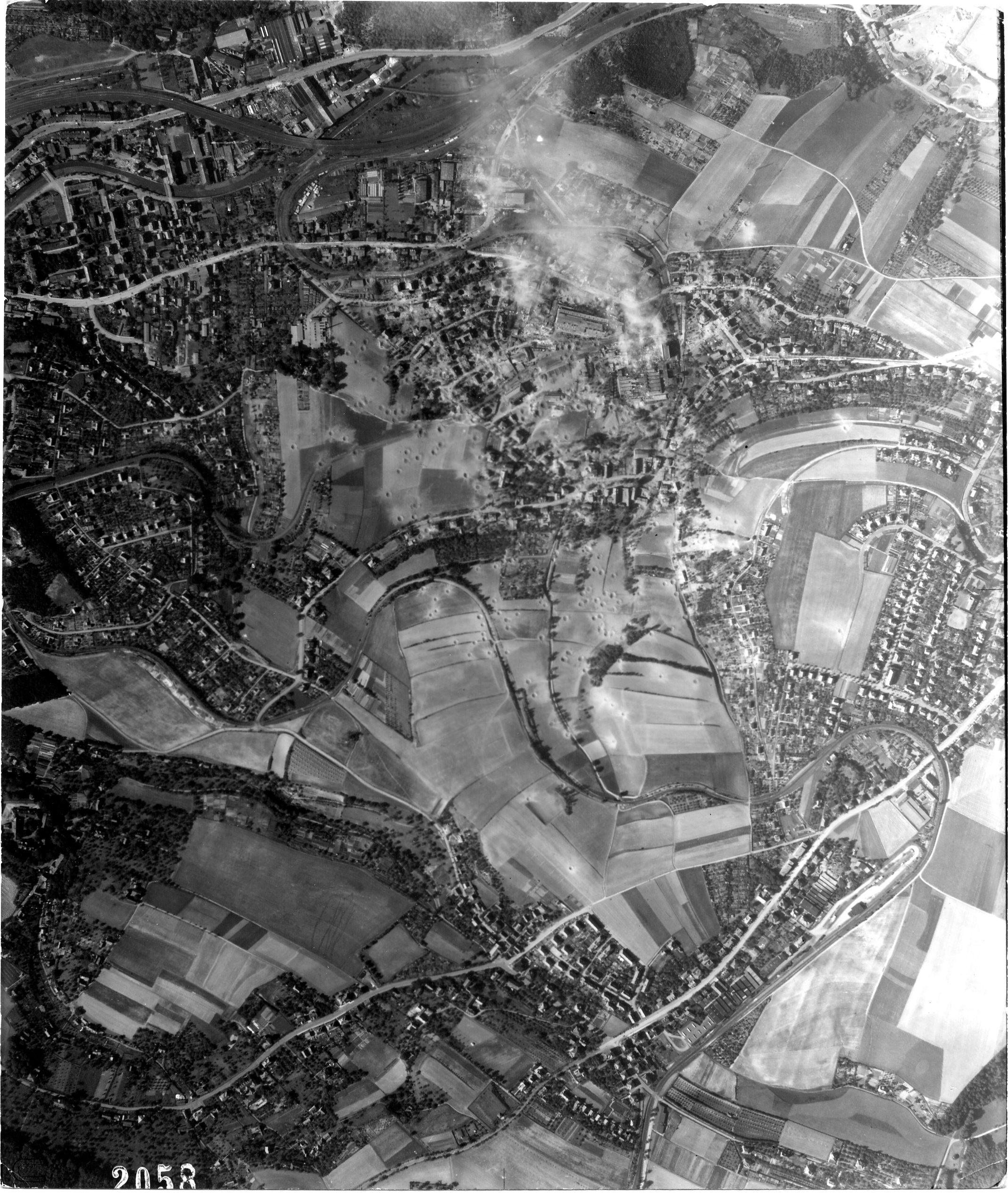 USAAAF 7PG22FS aerial recon photo to Freital Germany Aug 24 1944 01