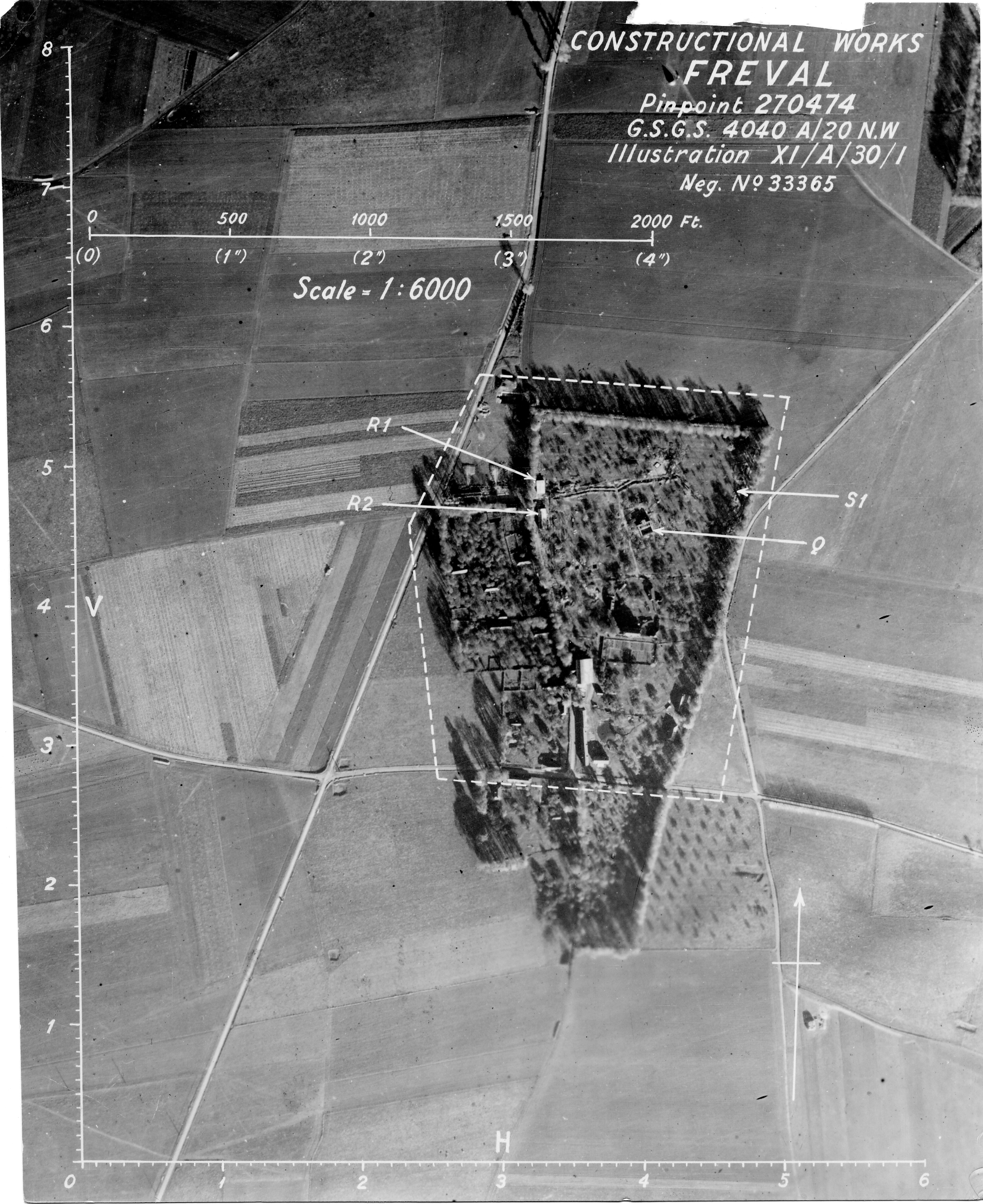 USAAAF 7PG22FS aerial recon photo to Freval V Weapons Noball France July 7 1944 01
