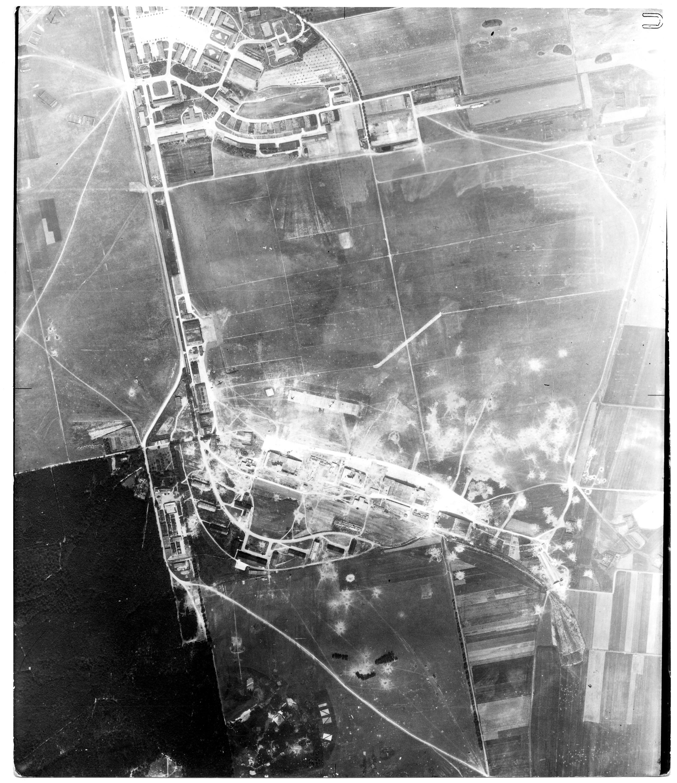 USAAAF 7PG22FS aerial recon photo to Halberstadt Airfield Germany July 7 1944 01