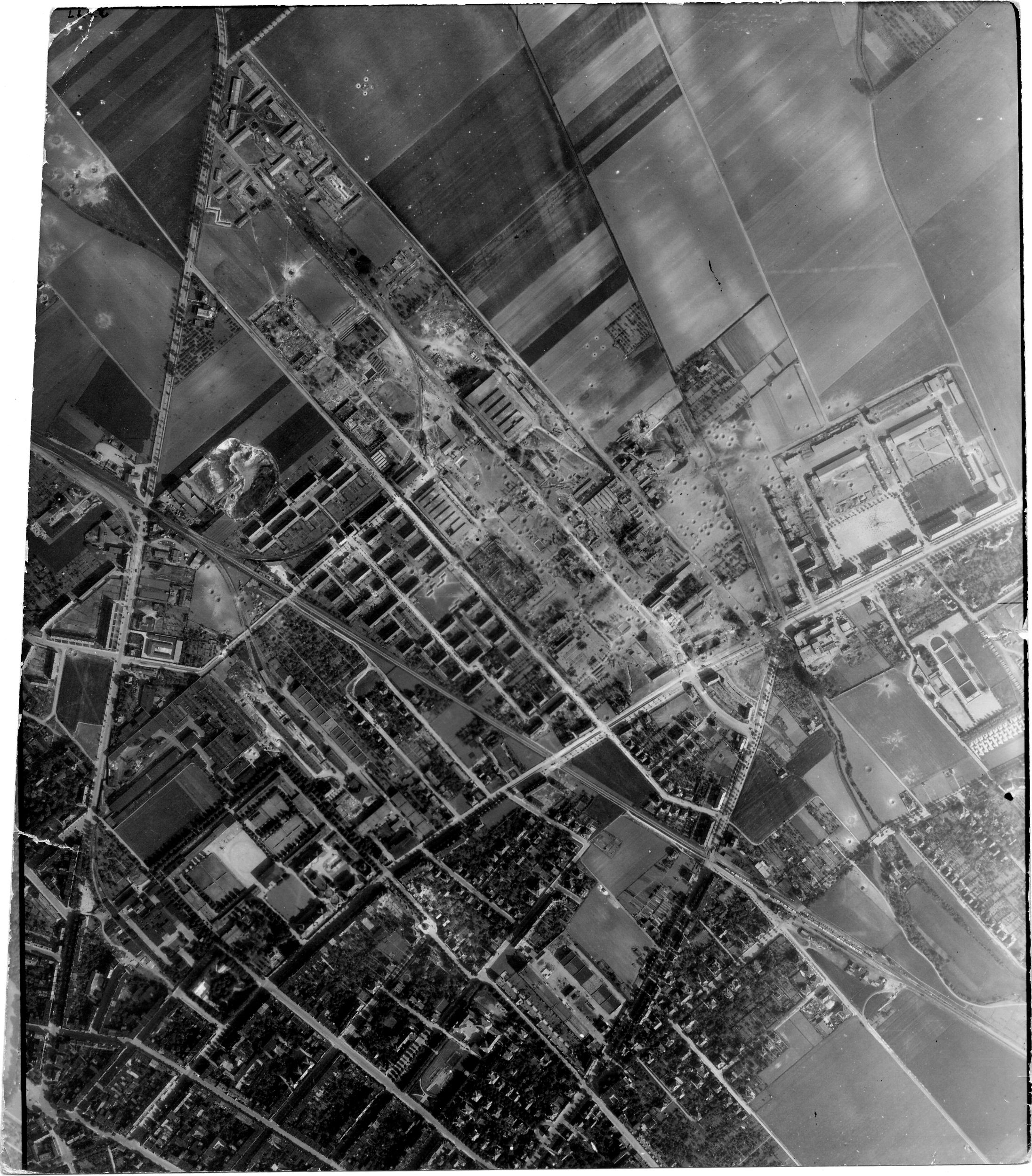 USAAAF 7PG22FS aerial recon photo to Halberstadt Germany May 30 1944 01
