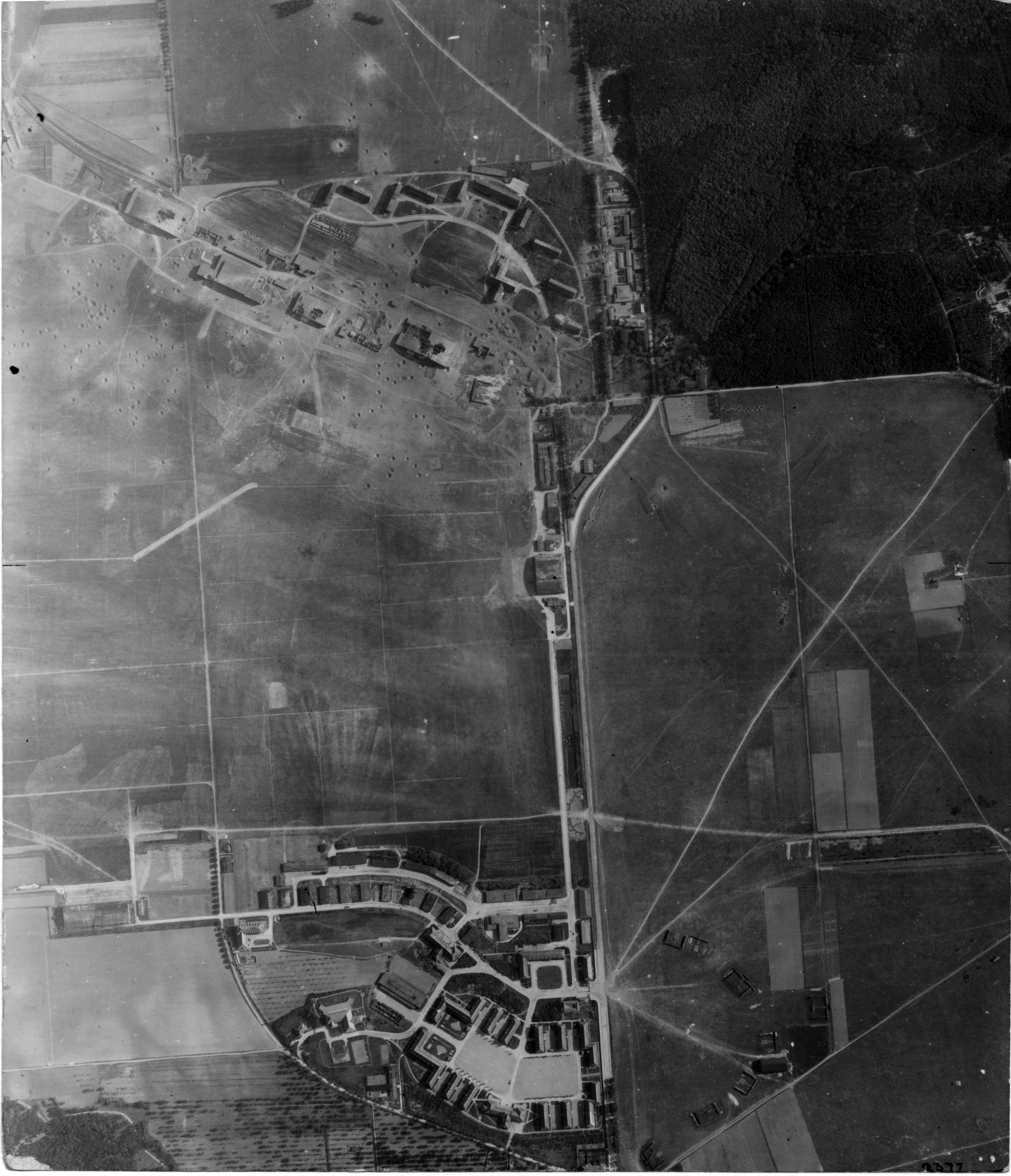 USAAAF 7PG22FS aerial recon photo to Halberstadt Luftwaffe Airfield May 30 1944 01