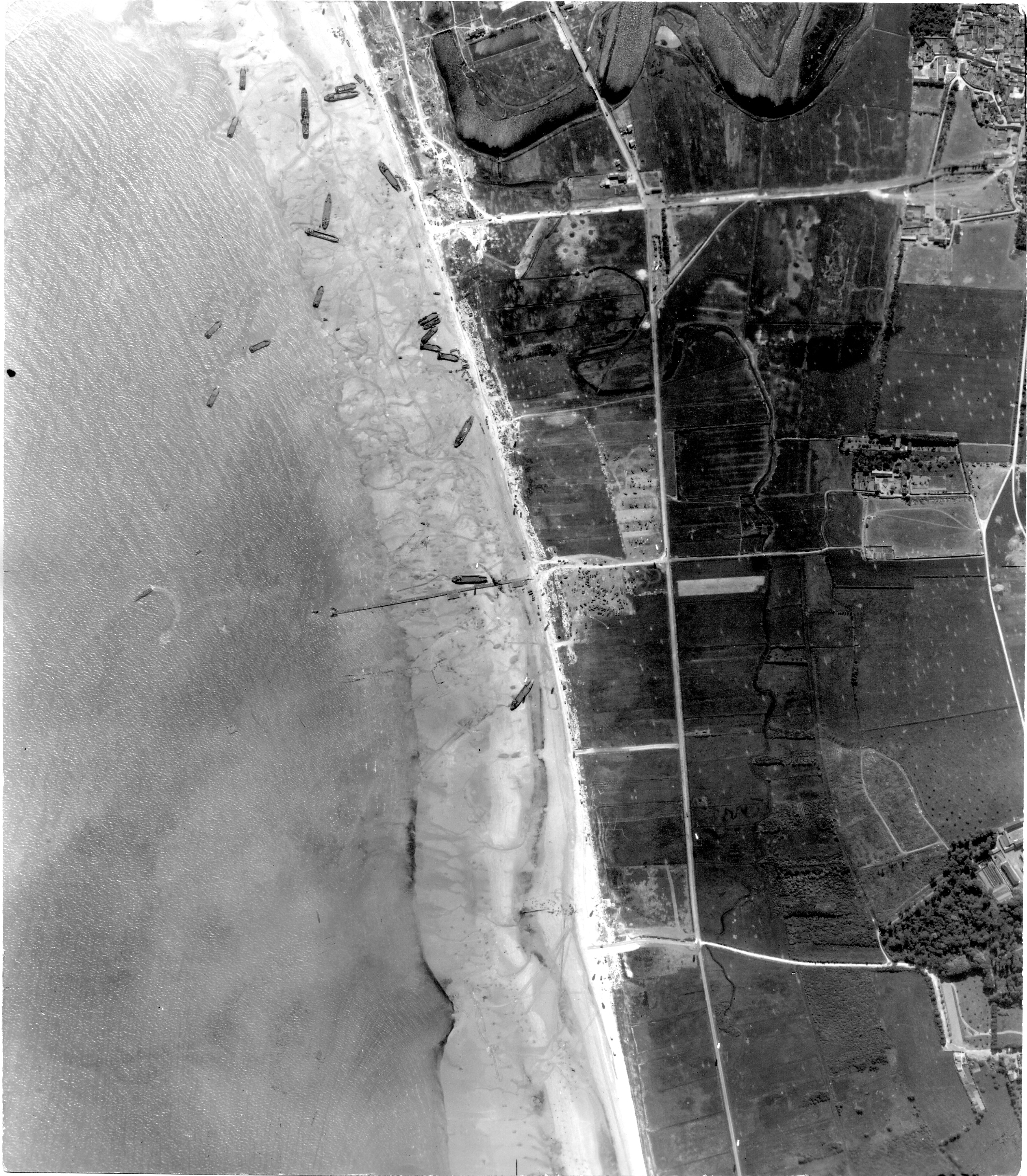USAAAF 7PG22FS aerial recon photo to Juno Beach area France June 12 1944 01