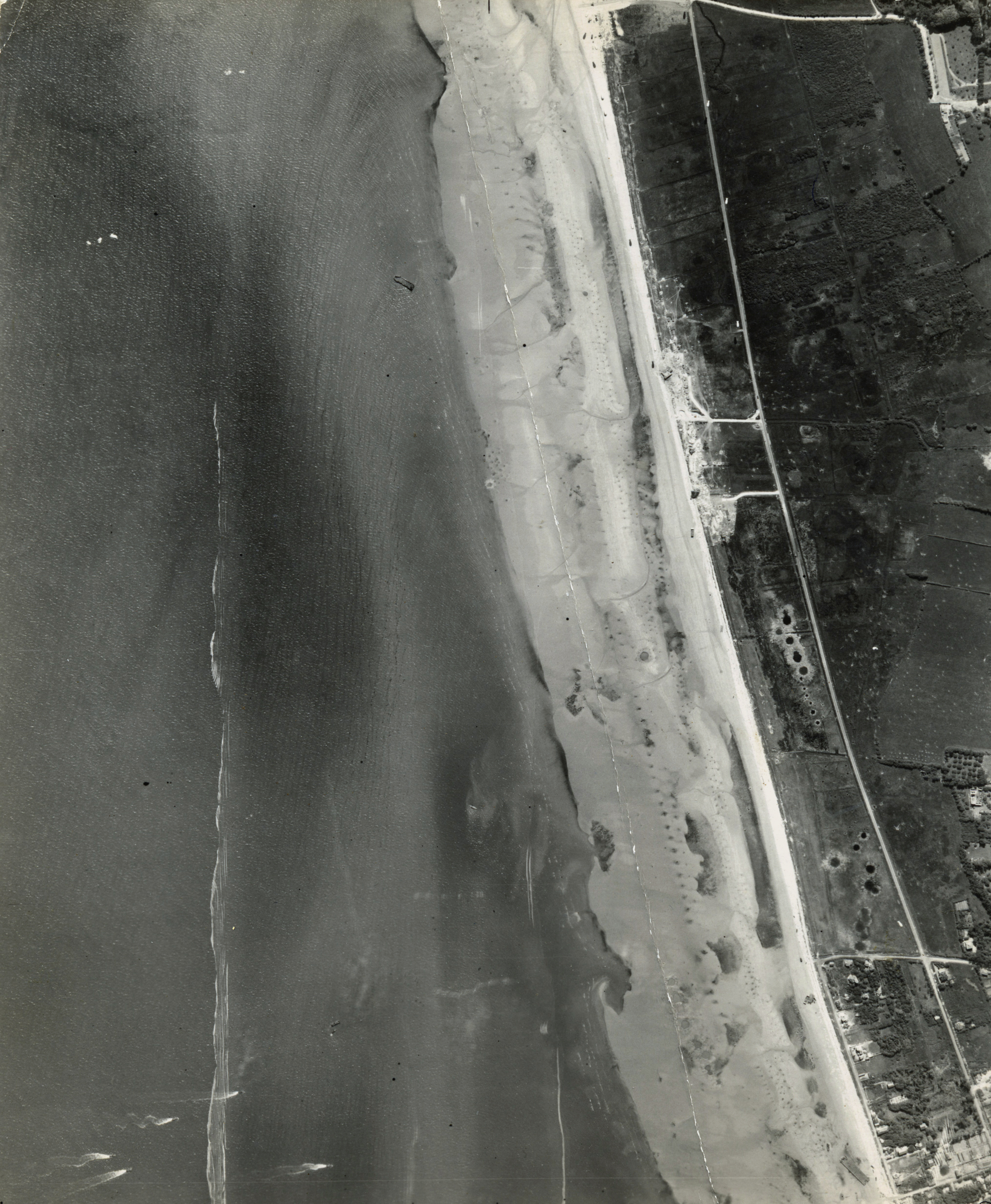 USAAAF 7PG22FS aerial recon photo to Juno Beach area France June 12 1944 03
