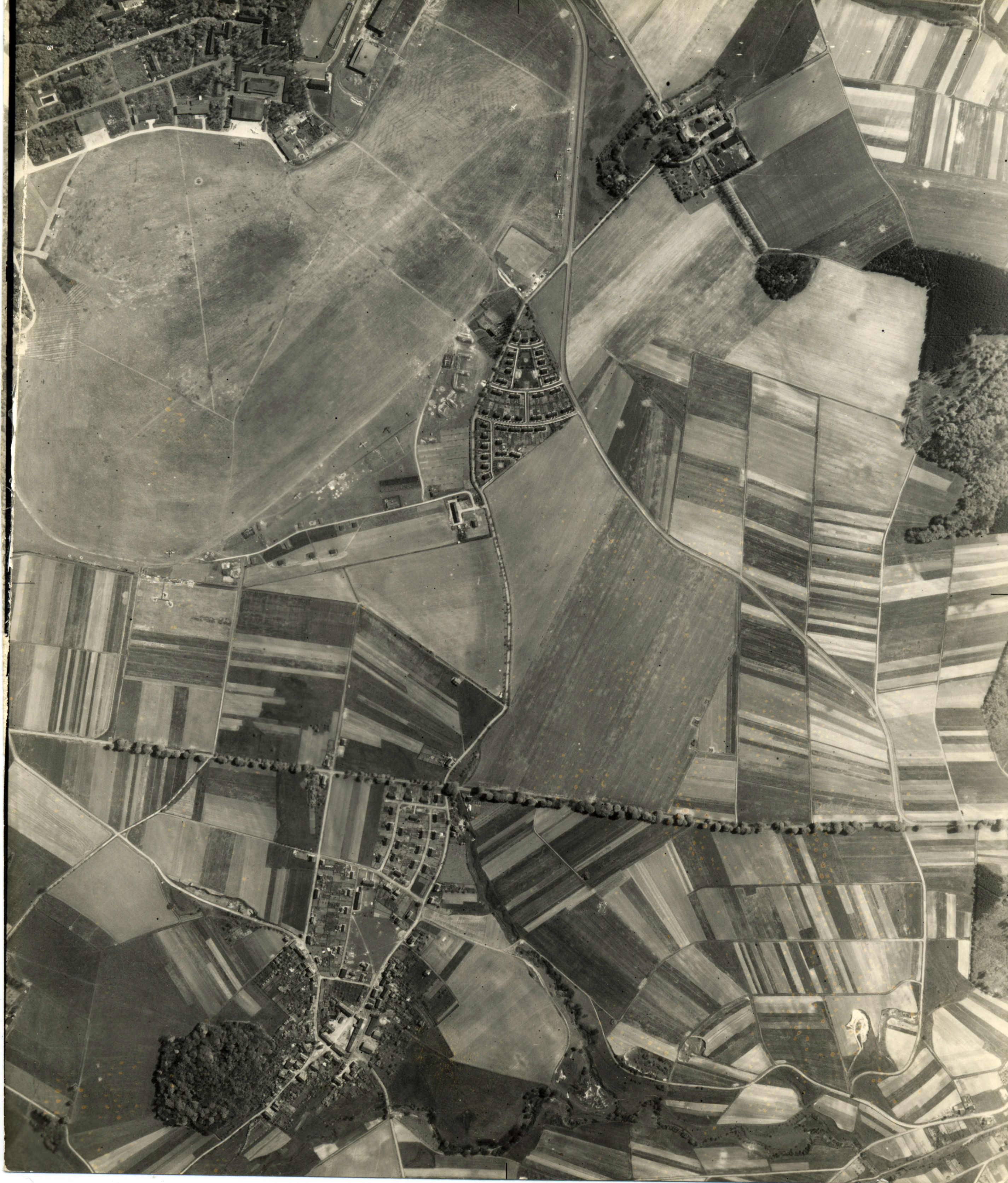 USAAAF 7PG22FS aerial recon photo to Kassel Rothwesten Airfield Germany May 9 1944 01