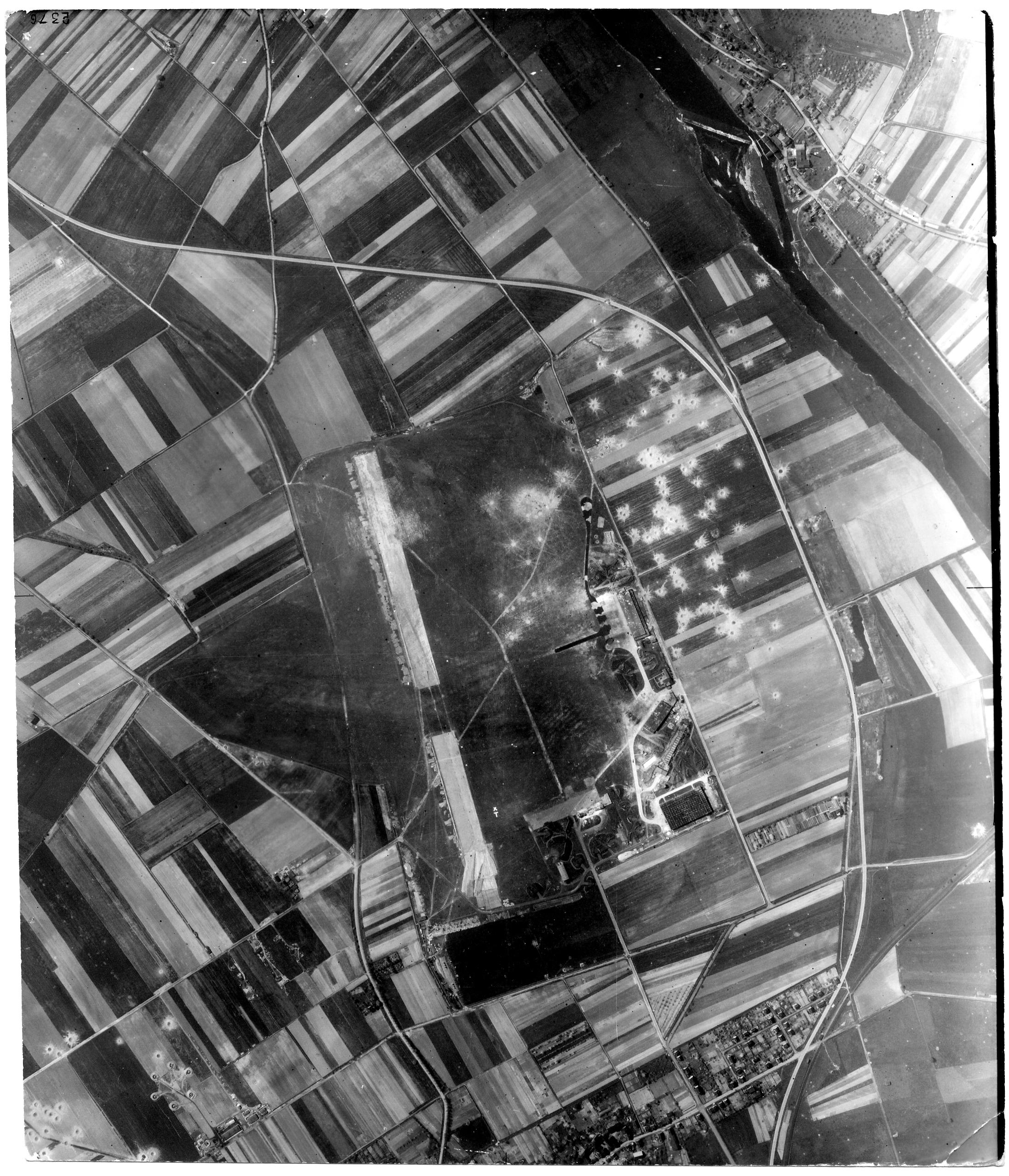 USAAAF 7PG22FS aerial recon photo to Kassel Waldau Airfield Germany 1944 01