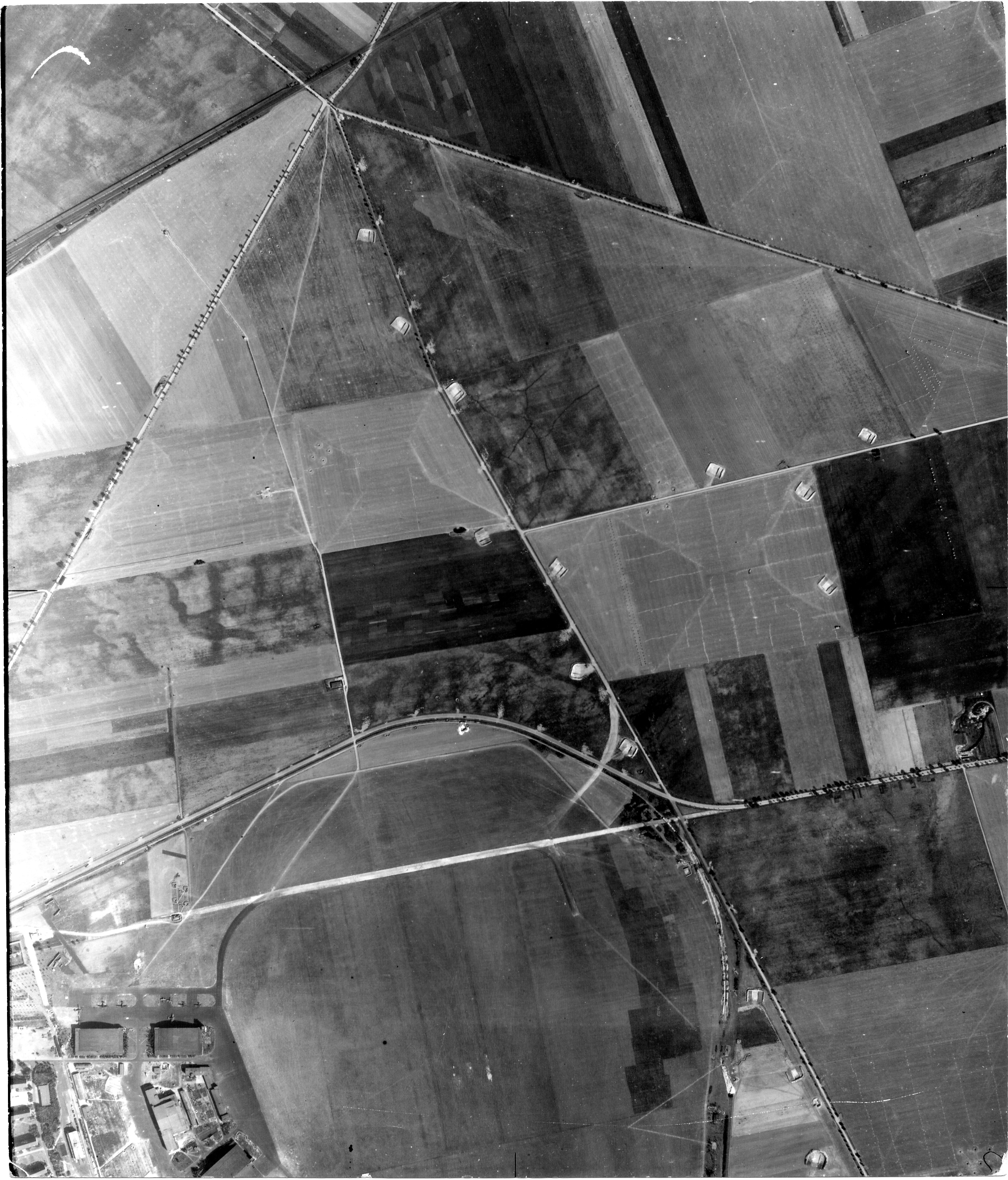 USAAAF 7PG22FS aerial recon photo to Koethen Airfield Germany Aug 24 1944 02