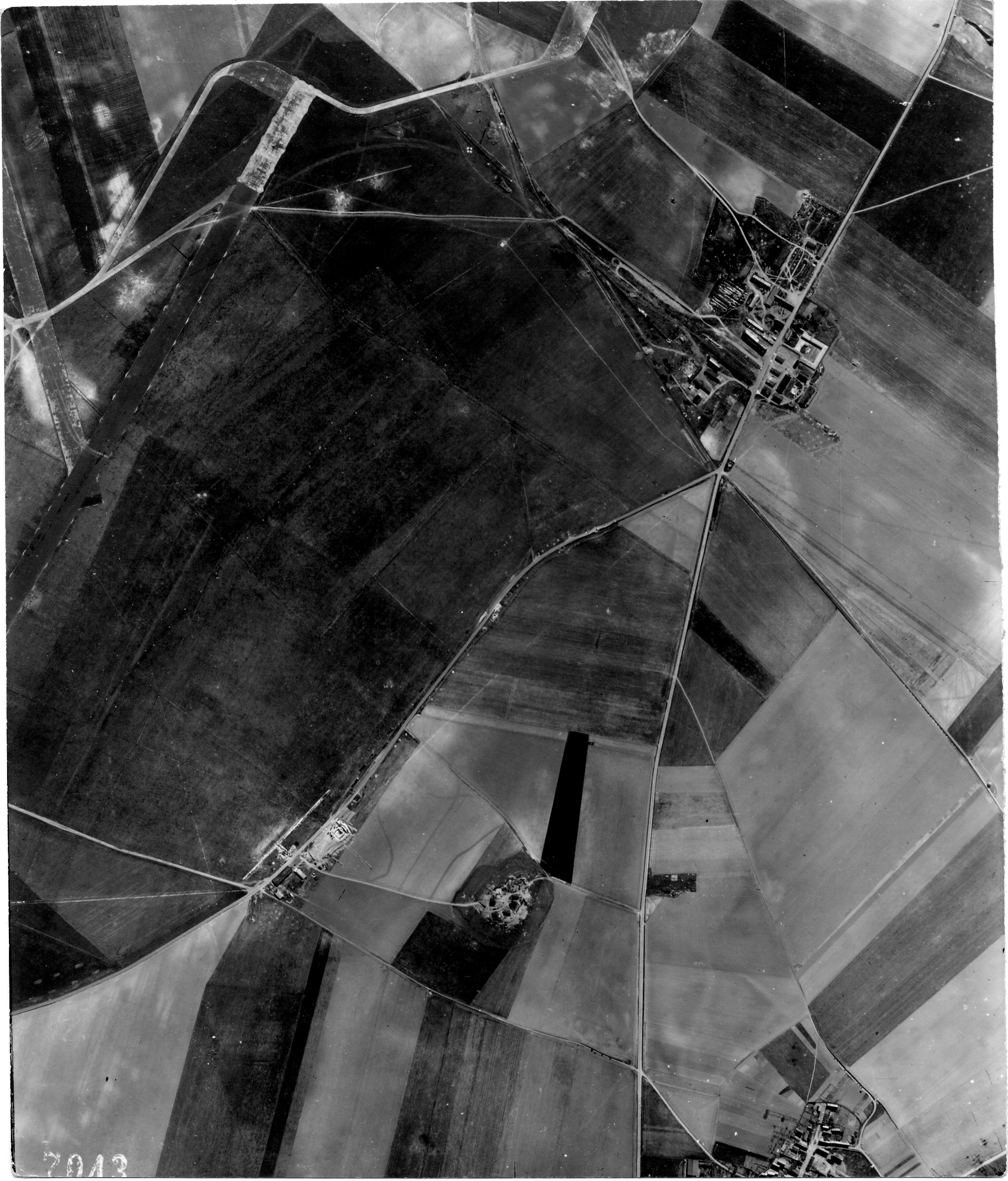 USAAAF 7PG22FS aerial recon photo to Laon Athies Airfield France April 23 1944 01
