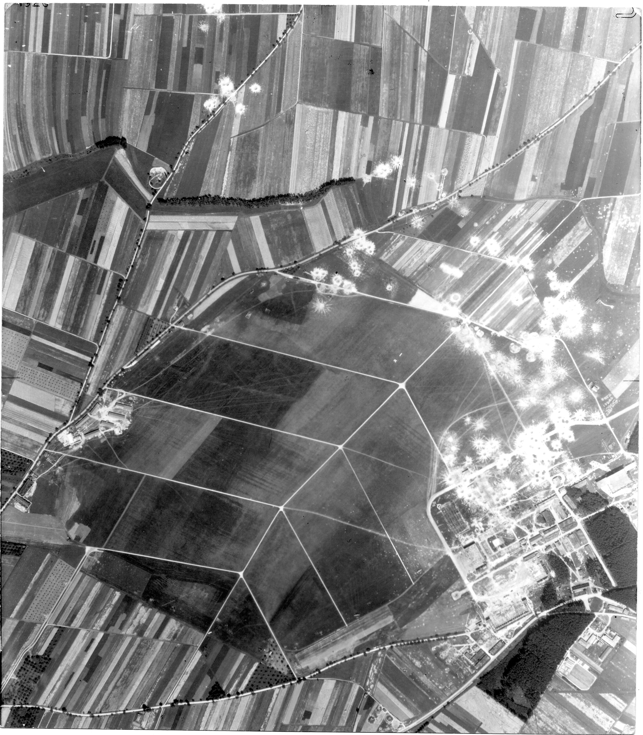 USAAAF 7PG22FS aerial recon photo to Laupheim Airfield Germany August 11 1944 01