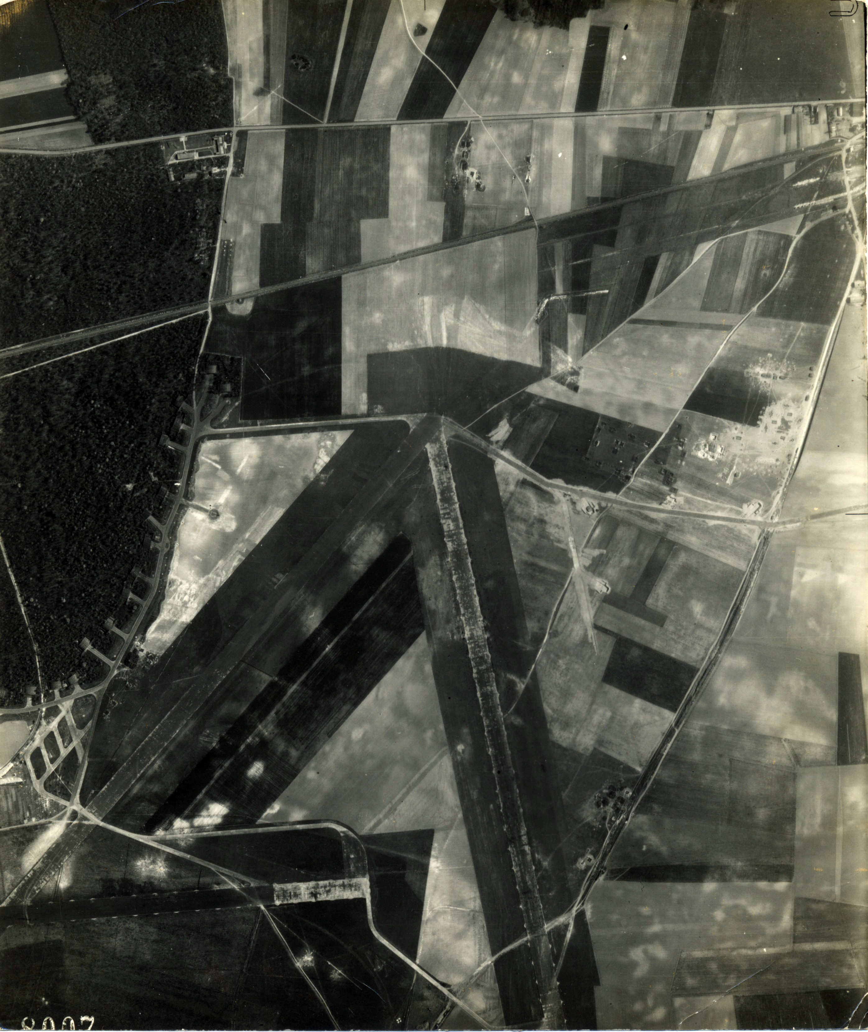 USAAAF 7PG22FS aerial recon photo to Luftwaffe Airfield Laon Athies France April 23 1944 01