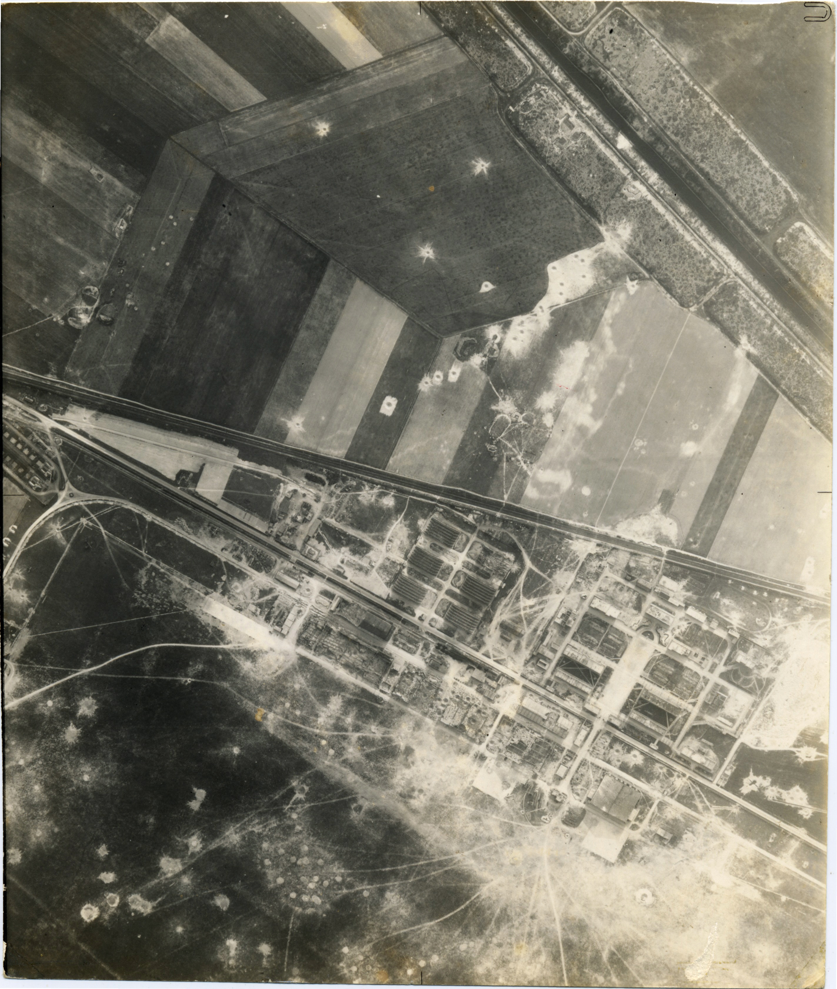 USAAAF 7PG22FS aerial recon photo to Luftwaffe Airfield Reims Champagne May 1 1944 01