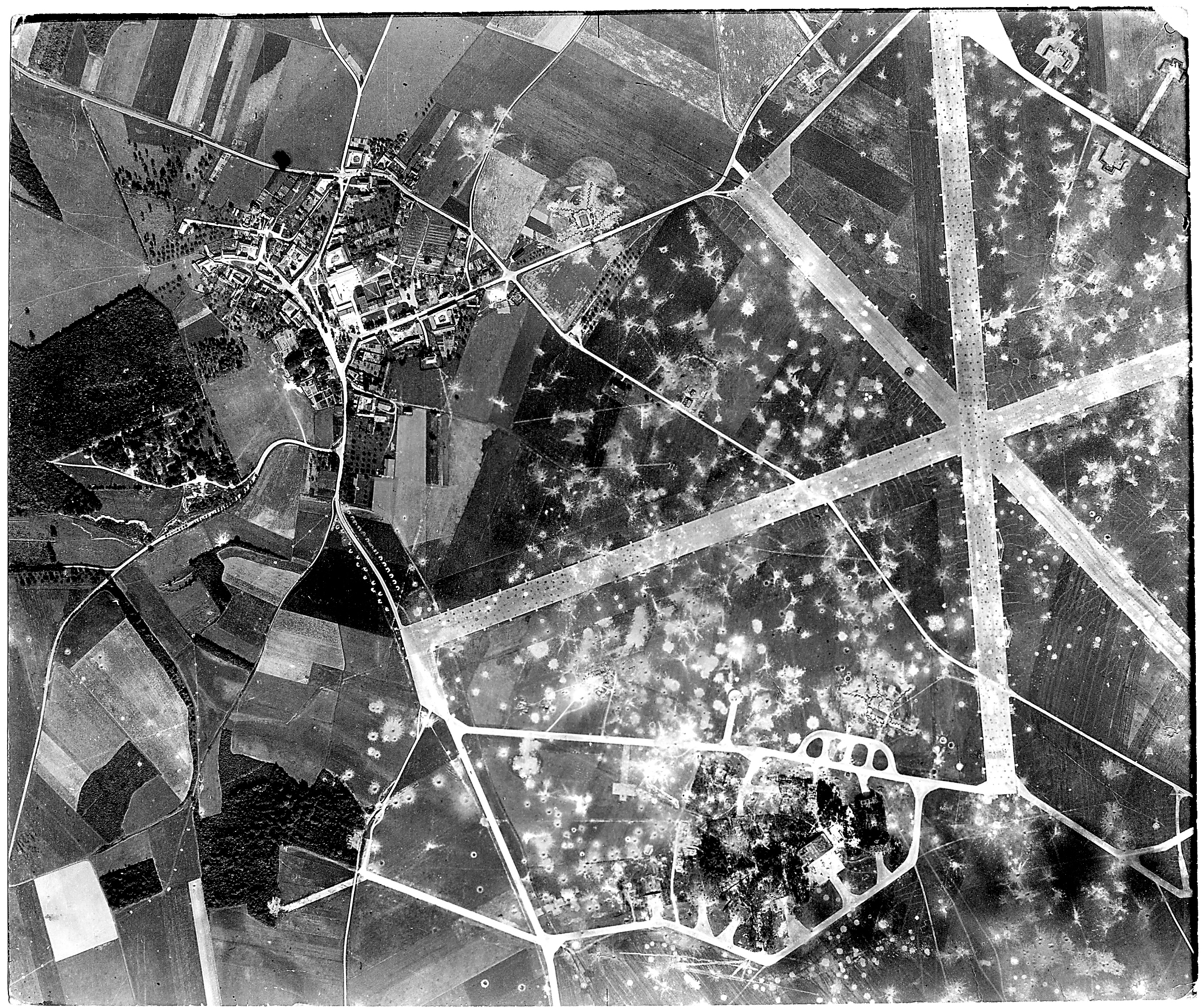 USAAAF 7PG22FS aerial recon photo to Montdidier Airfield France July 17 1944 01