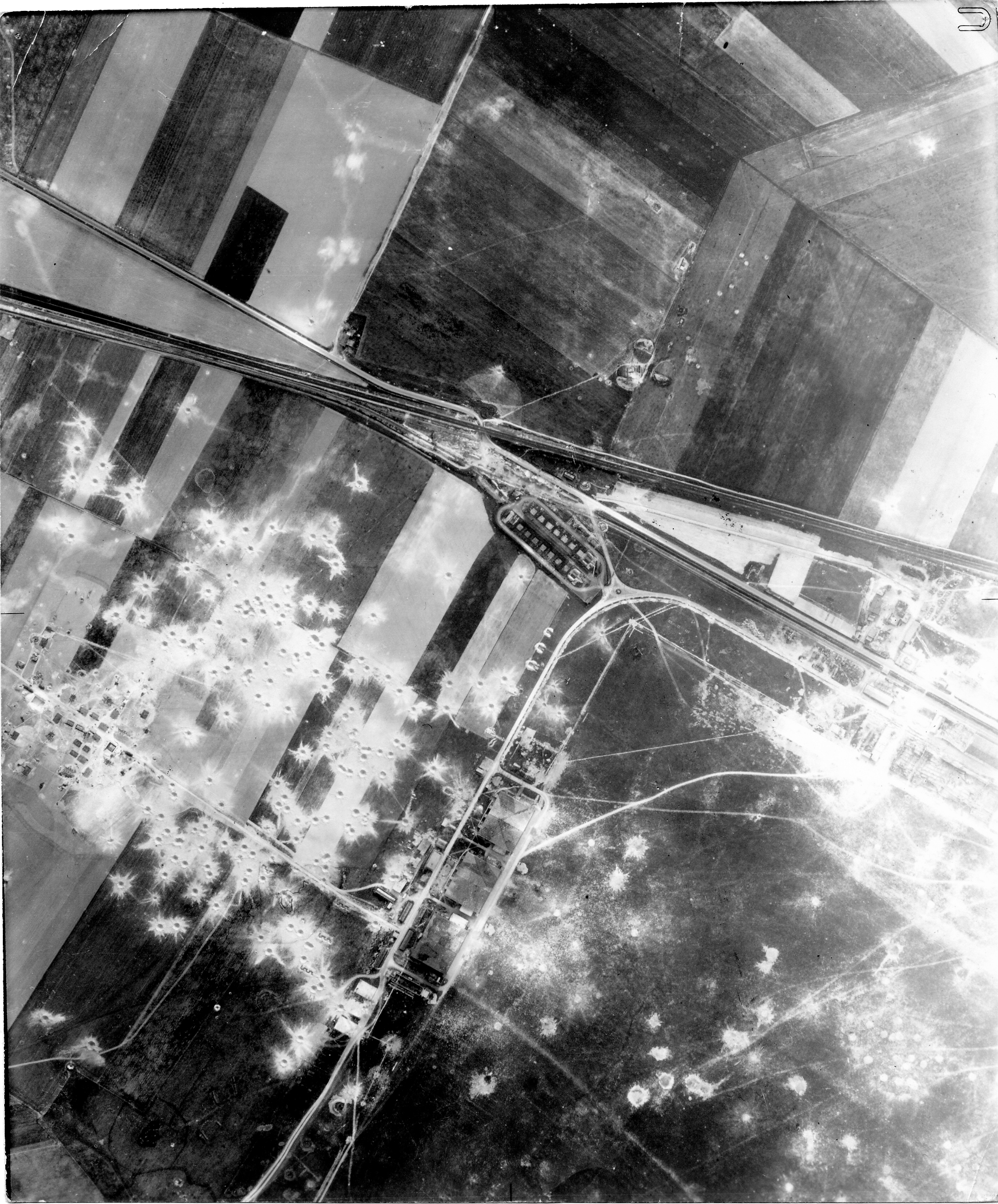 USAAAF 7PG22FS aerial recon photo to Reims Champagne Airfield France May 1 1944 01