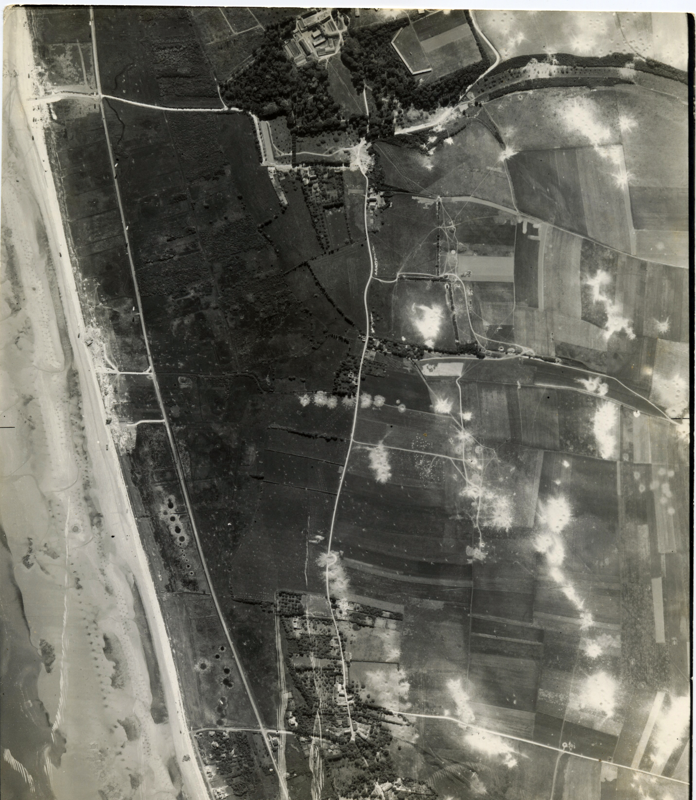 USAAAF 7PG22FS aerial recon photo to Southwest of Juno Beach area France June 12 1944 01