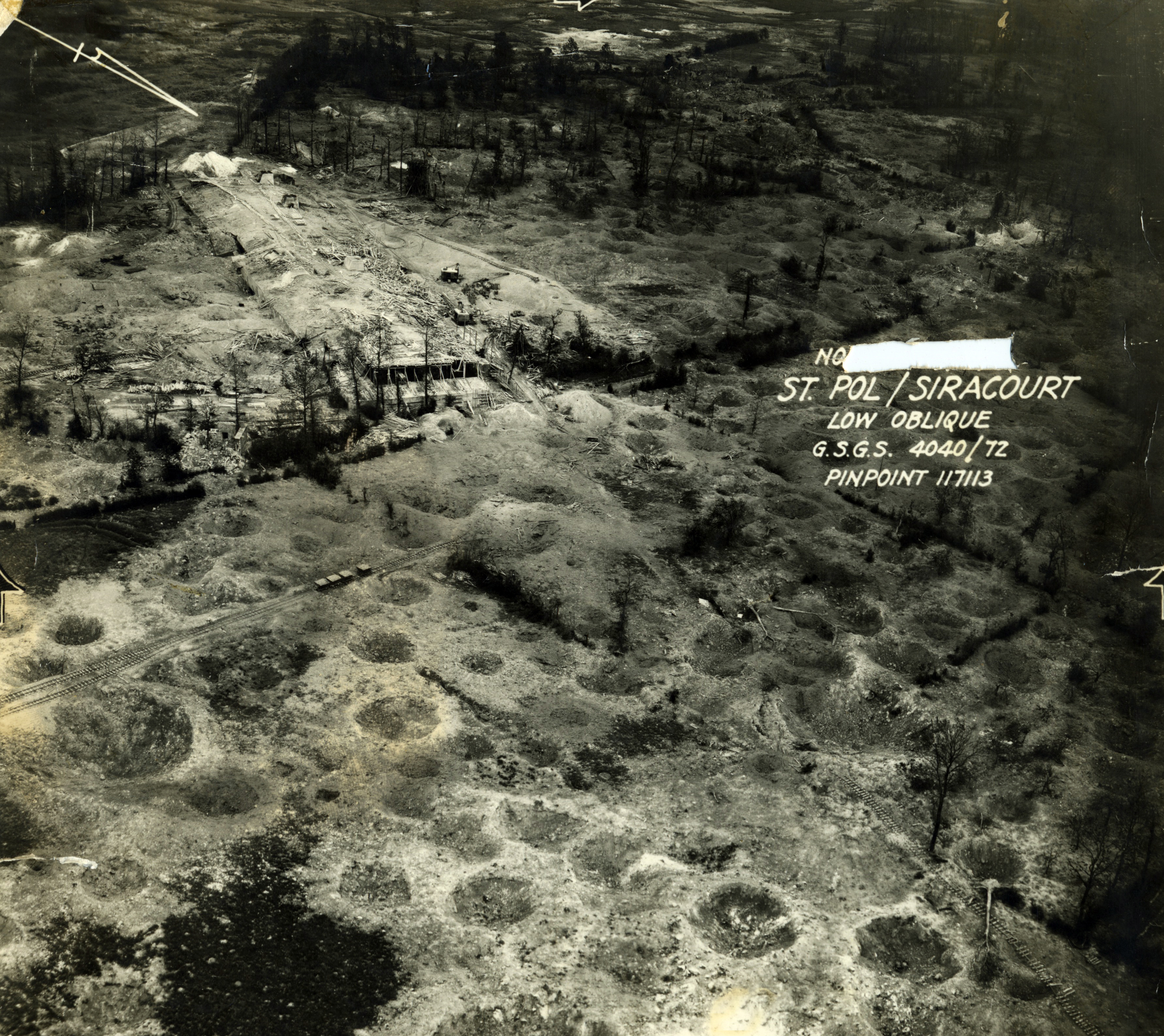 USAAAF 7PG22FS aerial recon photo to St Pol Siracourt V Weapons Noball France July 7 1944 01