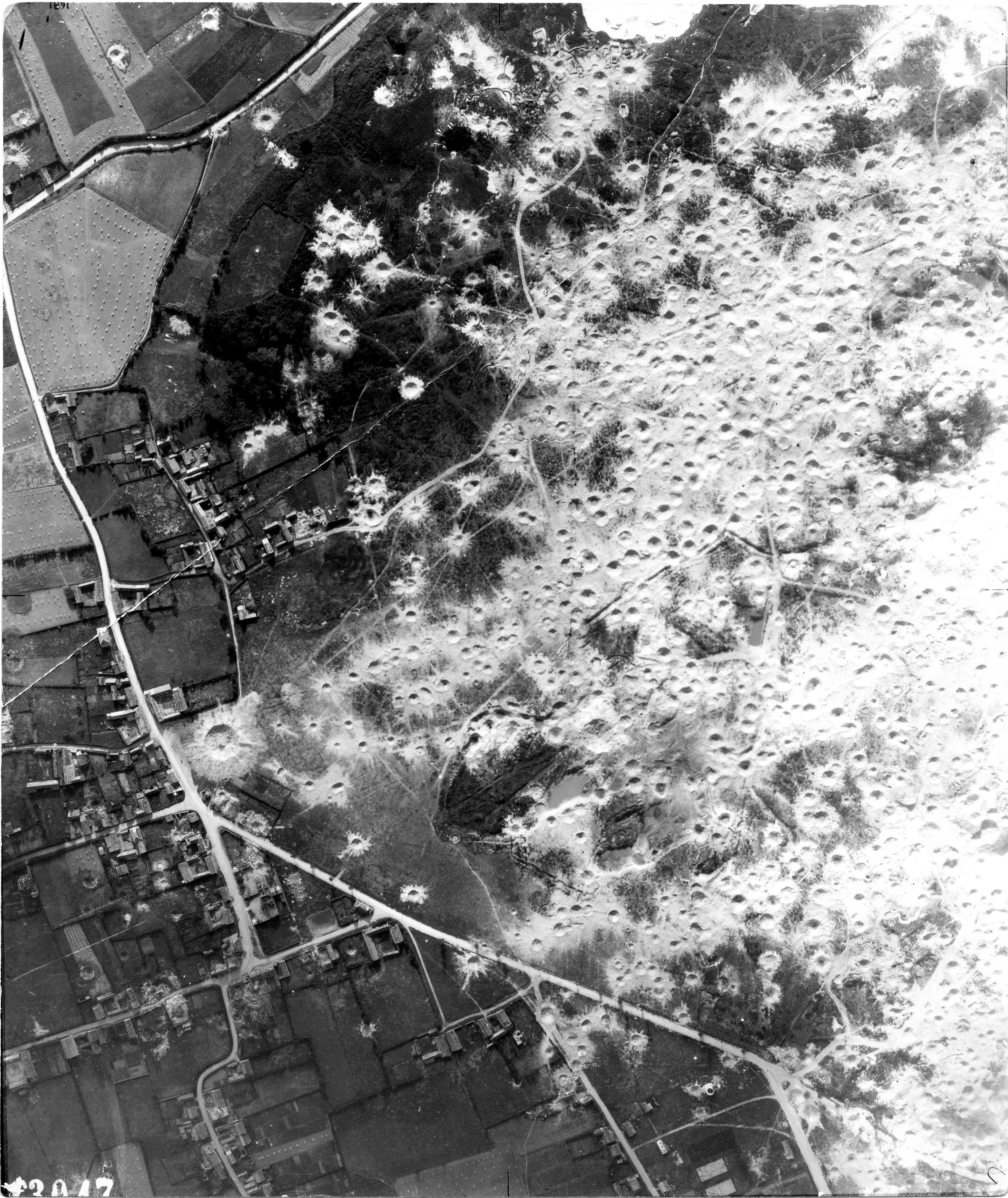 USAAAF 7PG22FS aerial recon photo to Wizernes V Weapons Noball France July 7 1944 02