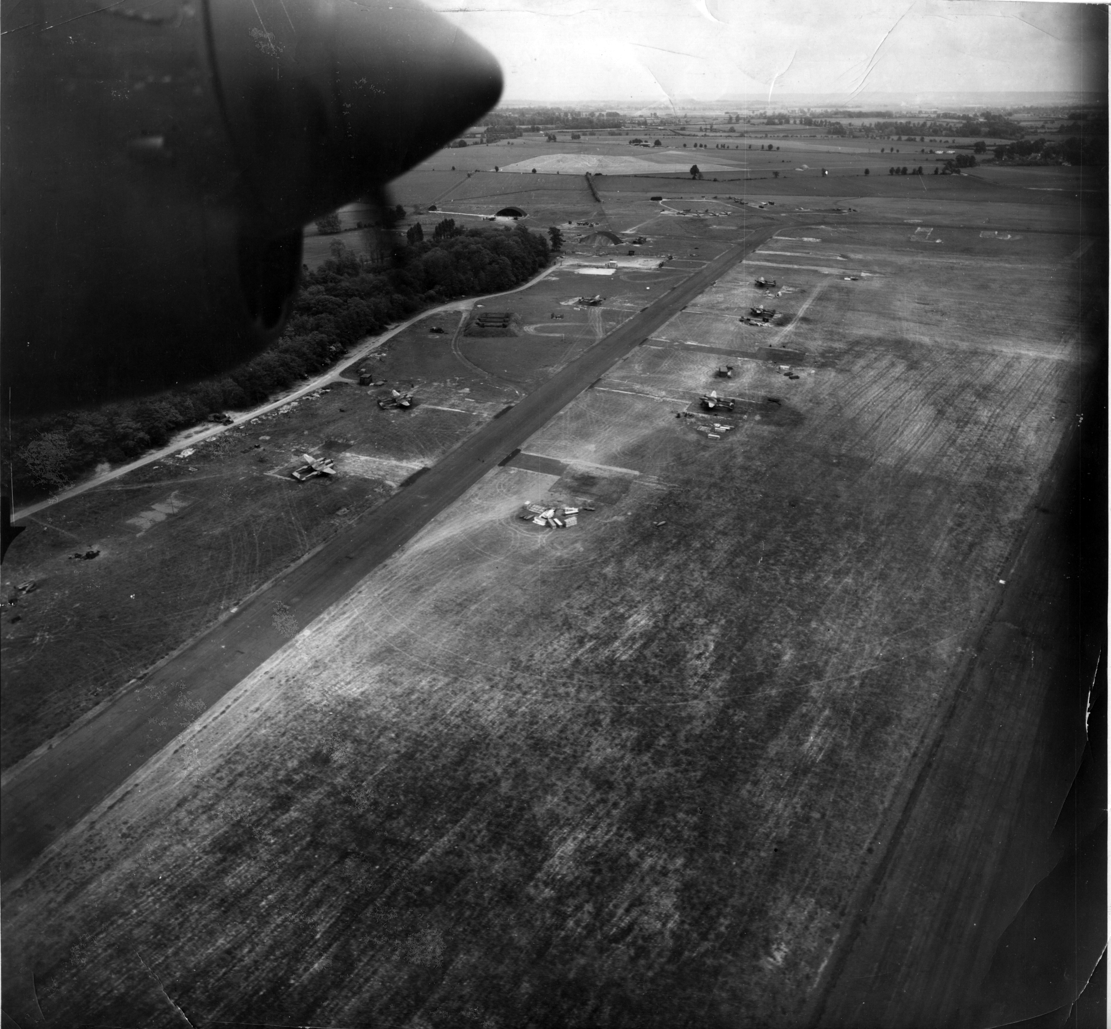 Airbase American 7th Photo Group USAAF base at Mount Farm Oxfordshire UK 1944 01