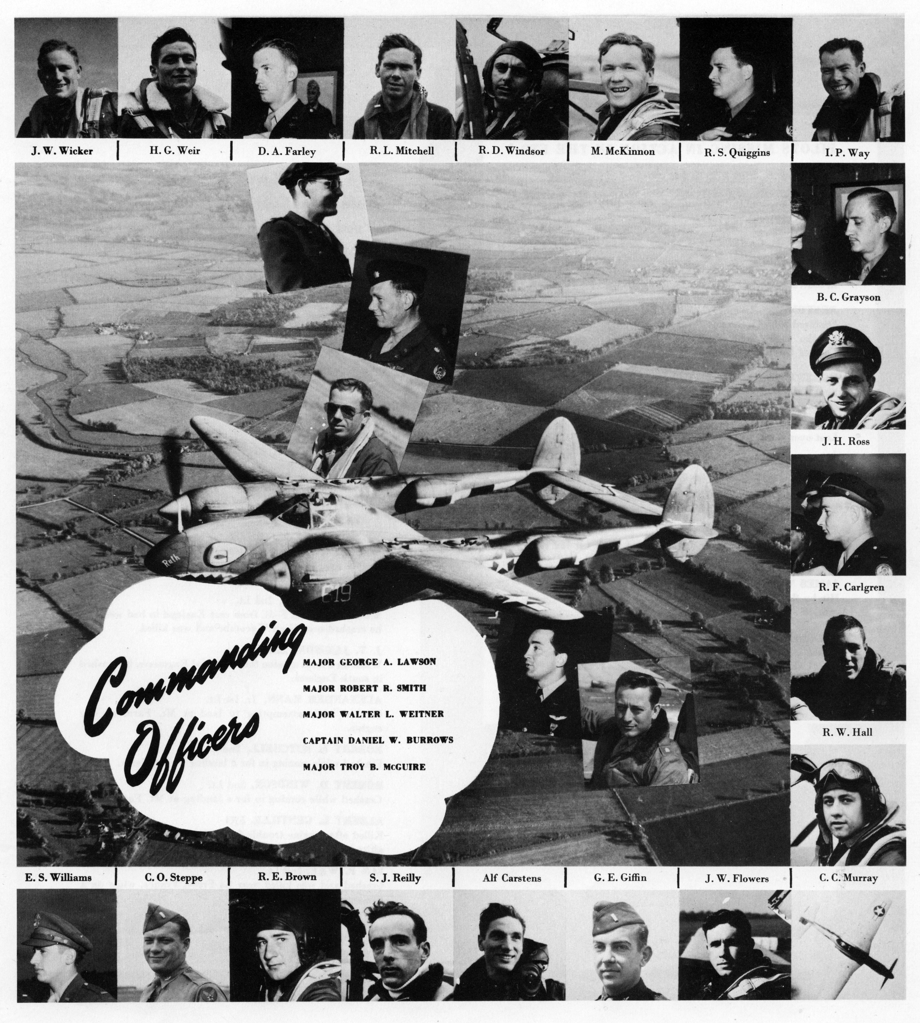 Aircrew 7th Photo Group 22nd Fighter Squadron Pilots Mount Farm Oxfordshire UK 1944 01