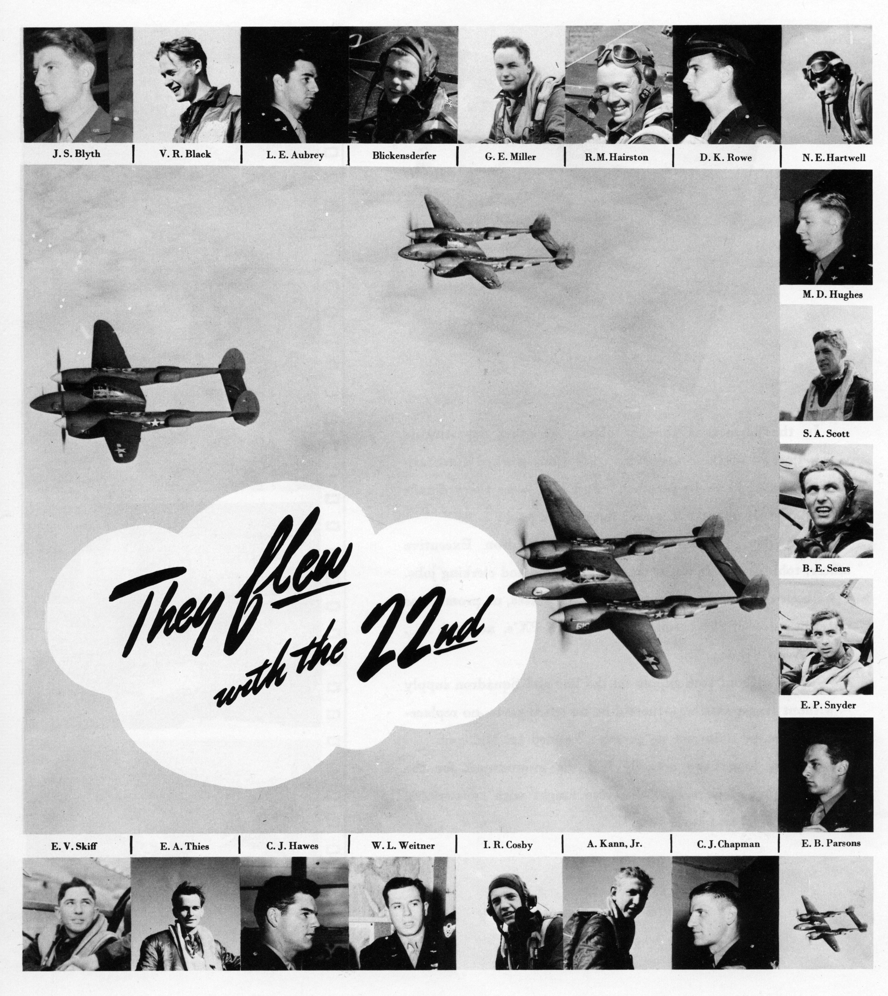 Aircrew 7th Photo Group 22nd Fighter Squadron Pilots Mount Farm Oxfordshire UK 1944 02