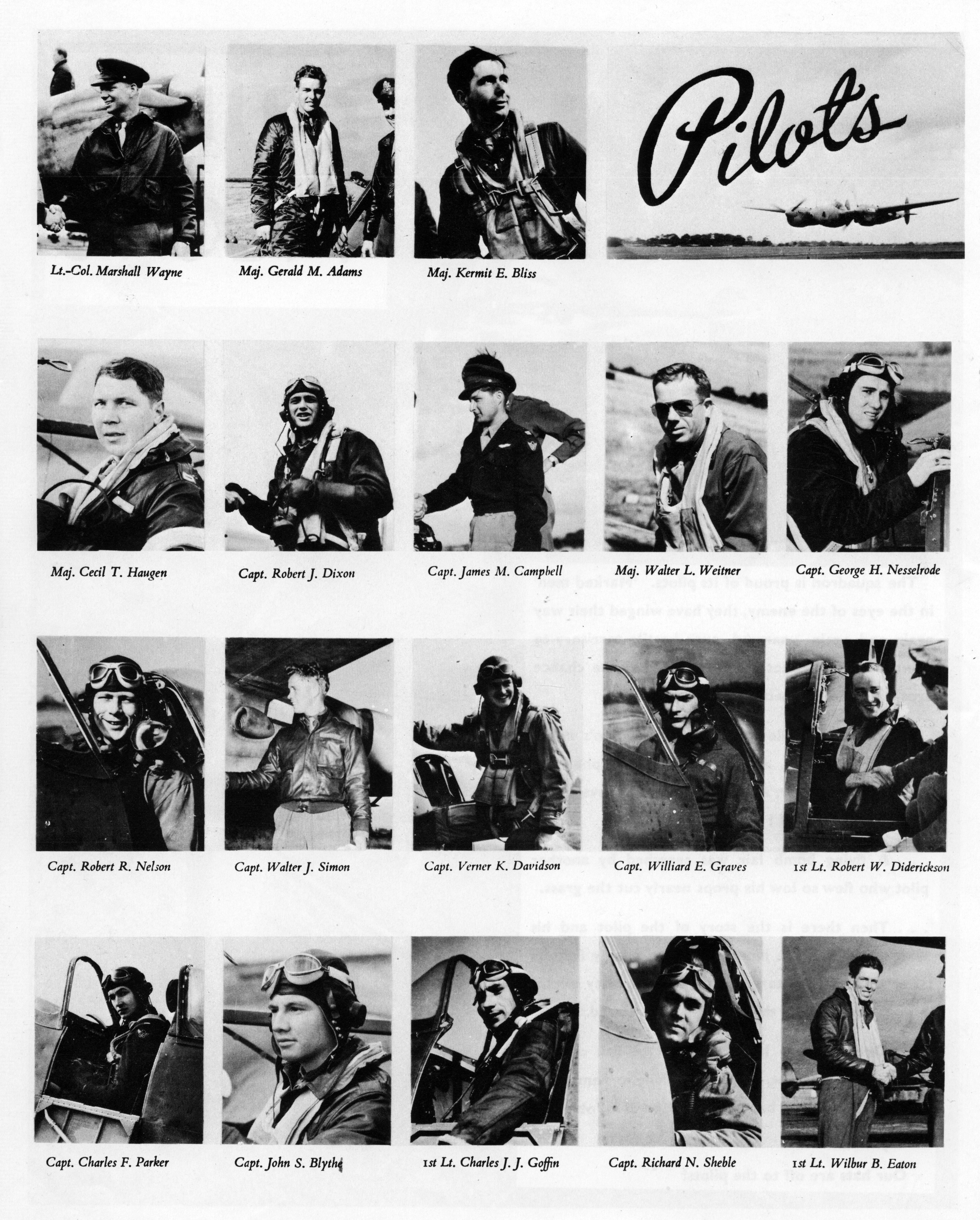 Aircrew 7th Photo Group 22nd Fighter Squadron Pilots Mount Farm Oxfordshire UK 1944 03