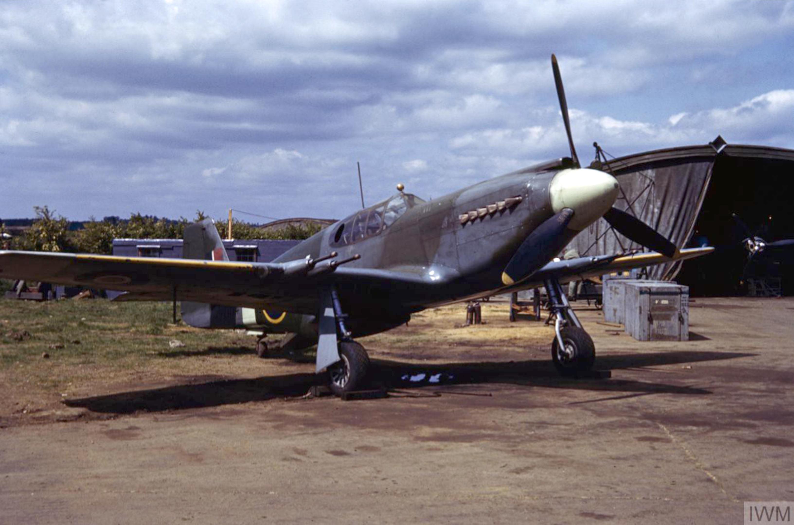 F 6 Mustang USAAF 7PG exRAF FD474 at Mount Farm IWM COL466